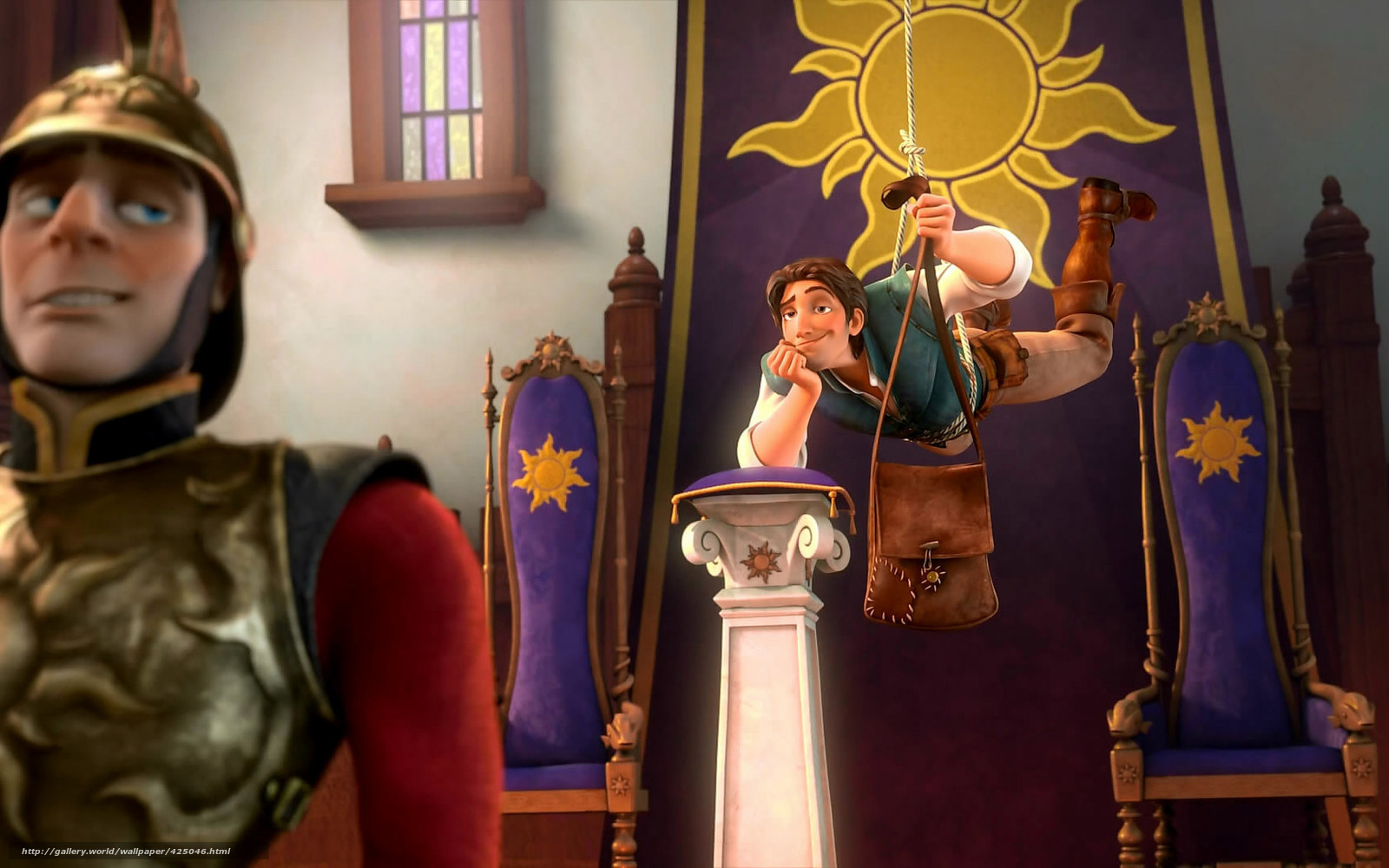 Download wallpaper Tangled, Flynn Rider, robbery free desktop wallpaper in the resolution 1680x1050 — picture №425046