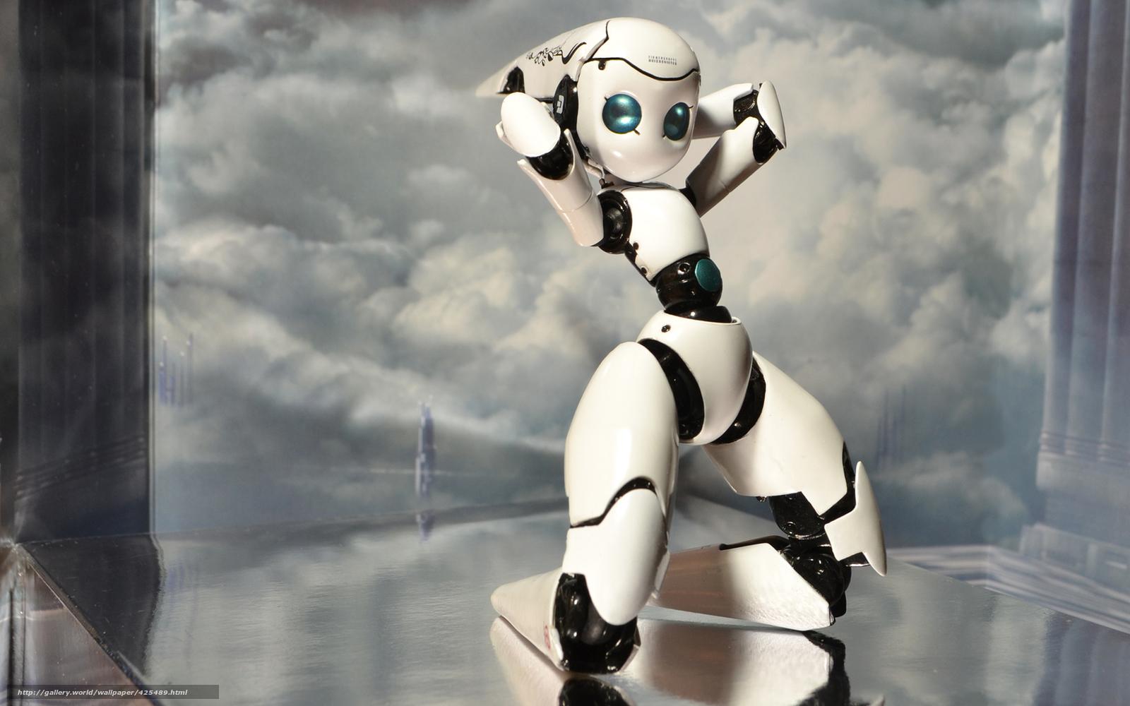 Скачать обои арт,  робот,  поза,  девочка бесплатно для рабочего стола в разрешении 1680x1050 — картинка №425489
