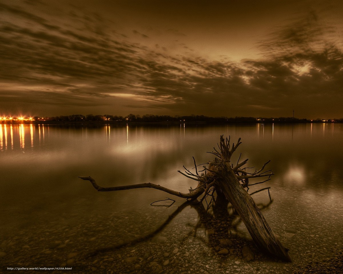 Download wallpaper root,  river,  evening,  Lights free desktop wallpaper in the resolution 1280x1024 — picture №4258