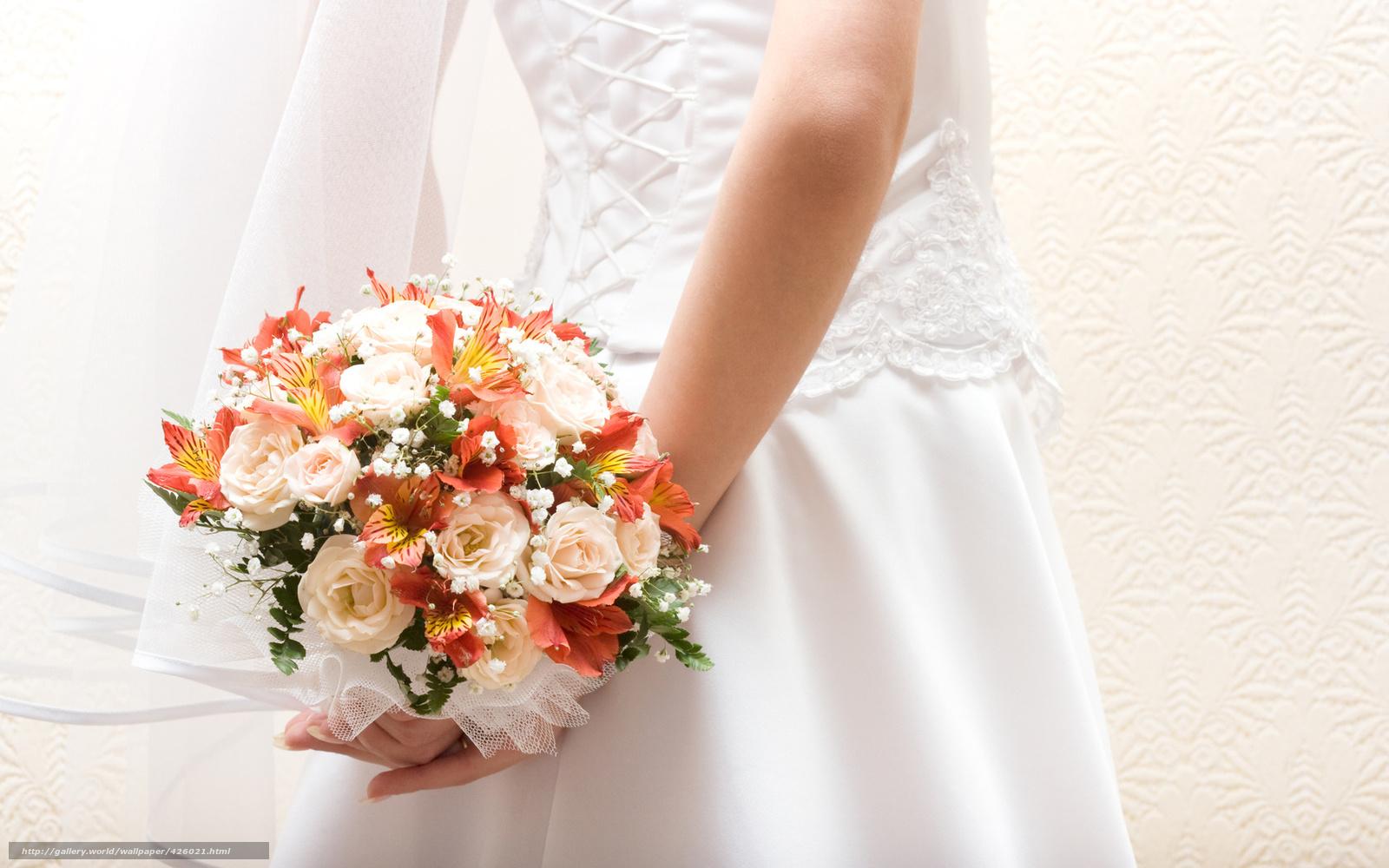 Скачать обои невеста,  платье,  фата,  шнуровка бесплатно для рабочего стола в разрешении 1680x1050 — картинка №426021