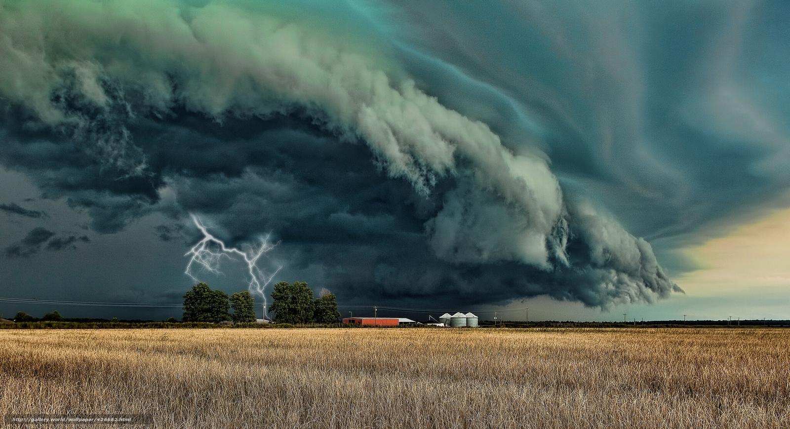 Download wallpaper Storm,  lightning,  field,  element free desktop wallpaper in the resolution 1989x1080 — picture №426682