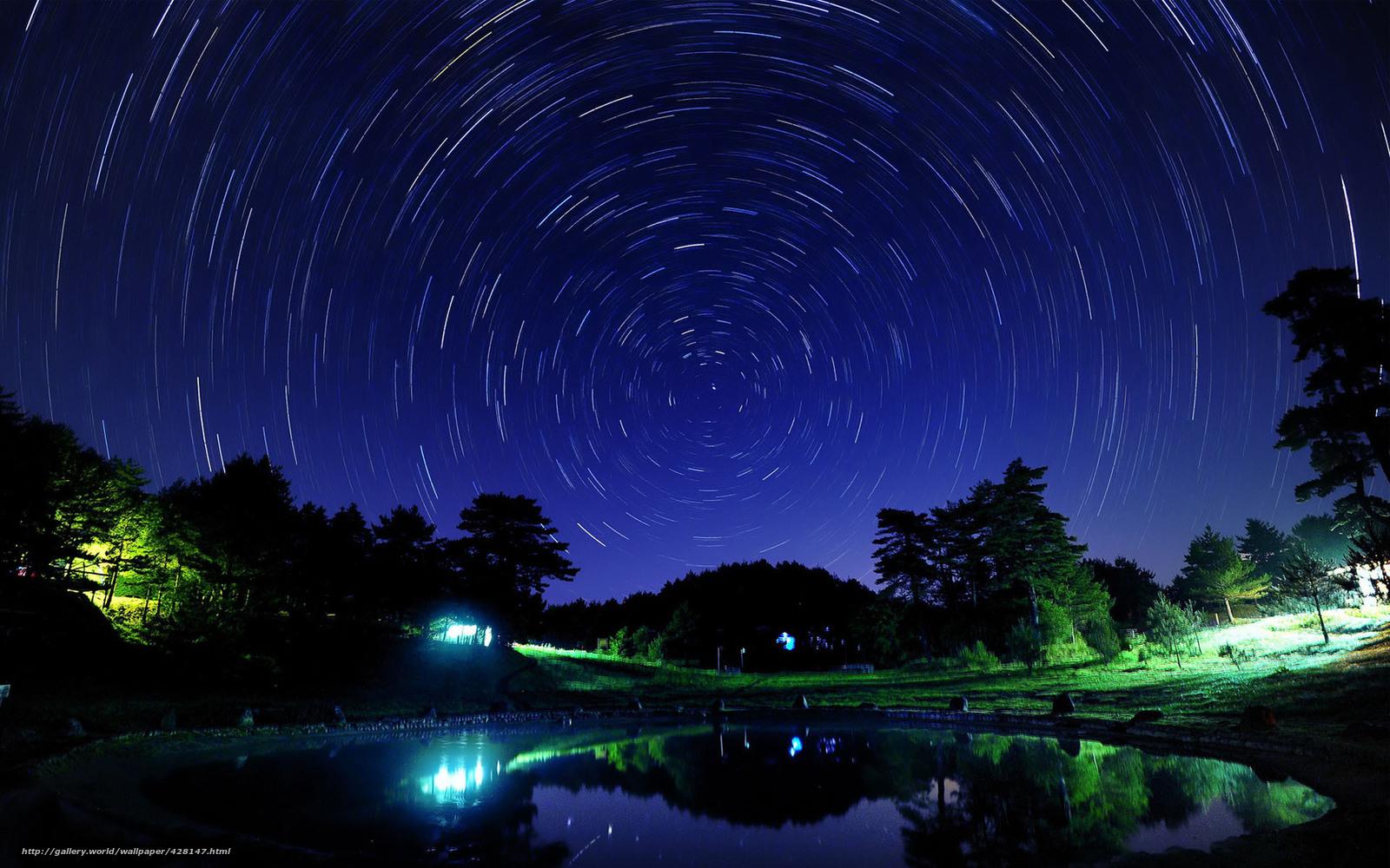 Scaricare Gli Sfondi Notte Cielo Stellato Casa Sondaggio Sfondi