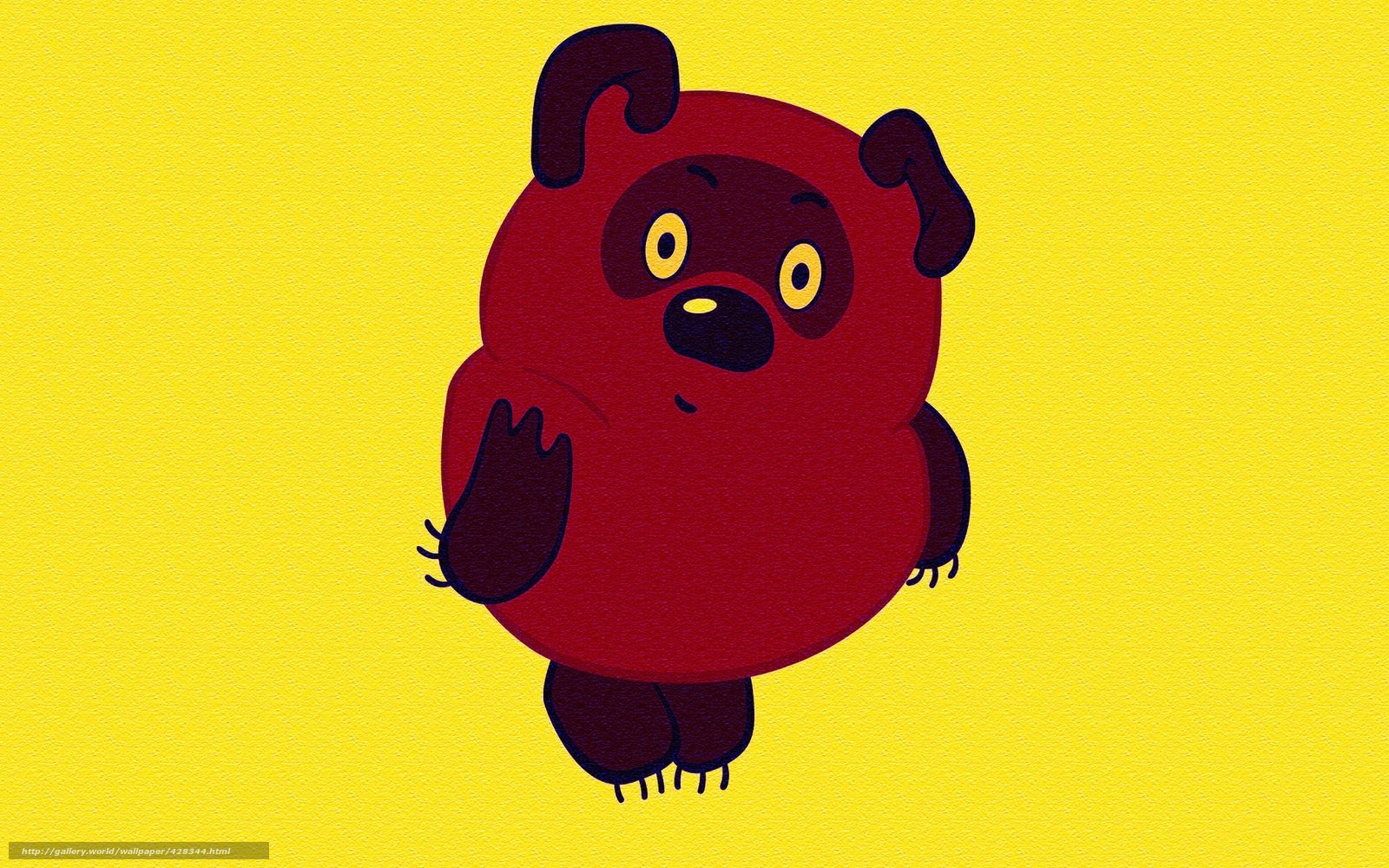 download wallpaper yellow background character winnie
