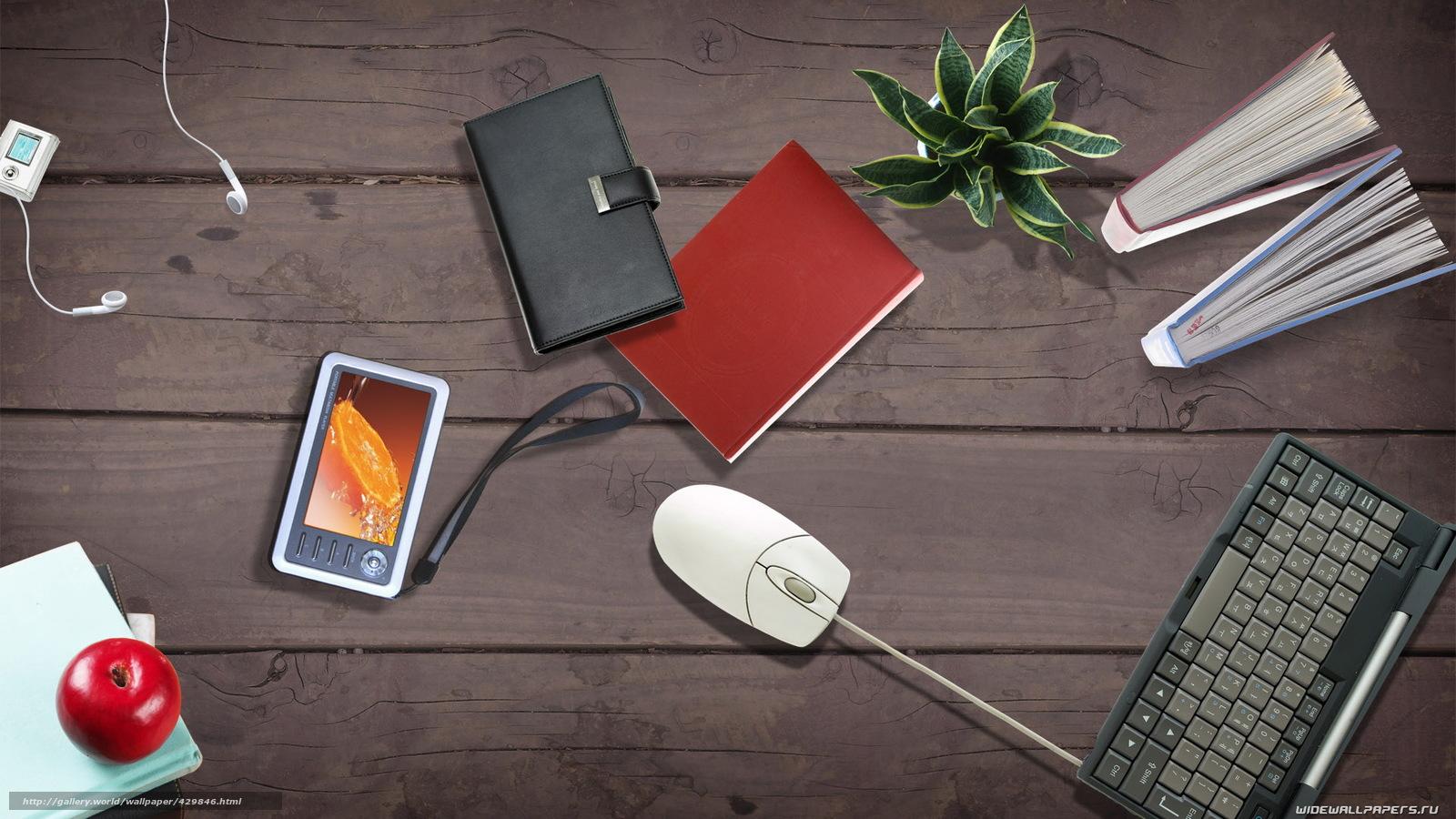 Download wallpaper computer mouse office desk flower free