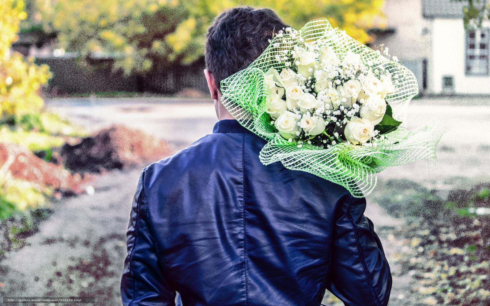 Tlcharger fond d 39 ecran homme mec bouquet fleur fonds d for Bouquet de fleurs homme