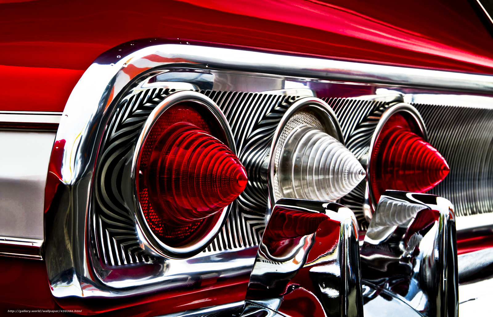 Download wallpaper Chevrolet,  Impala,  red,  lights free desktop wallpaper in the resolution 2000x1288 — picture №430386