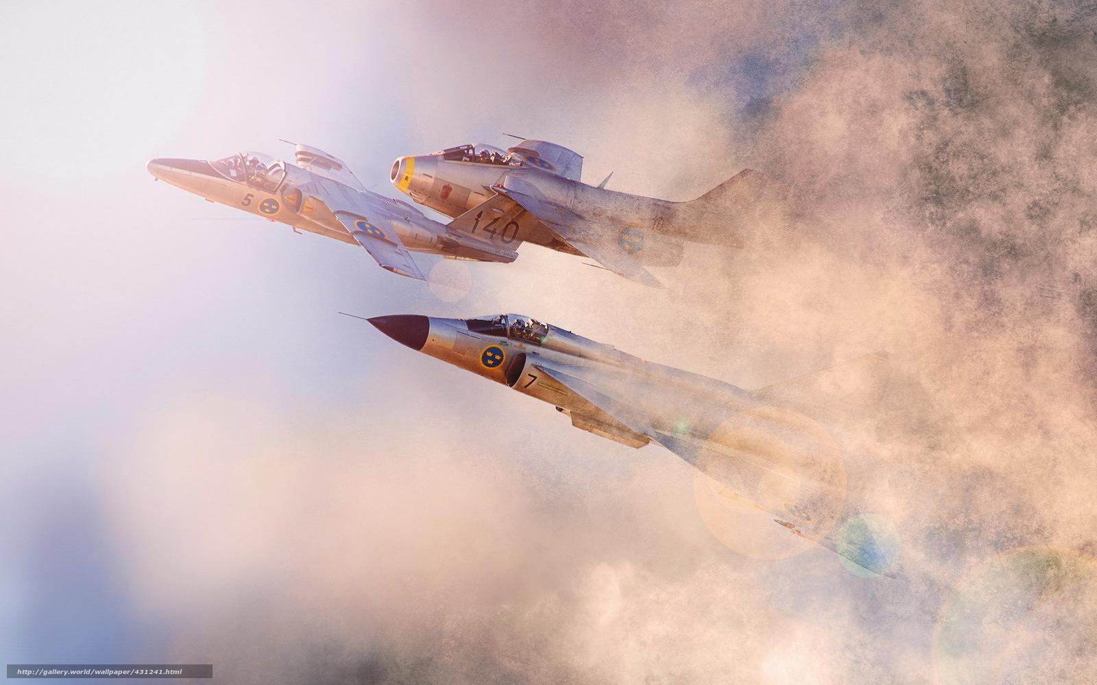 Скачать обои самолёты,  небо,  авиация бесплатно для рабочего стола в разрешении 1680x1050 — картинка №431241