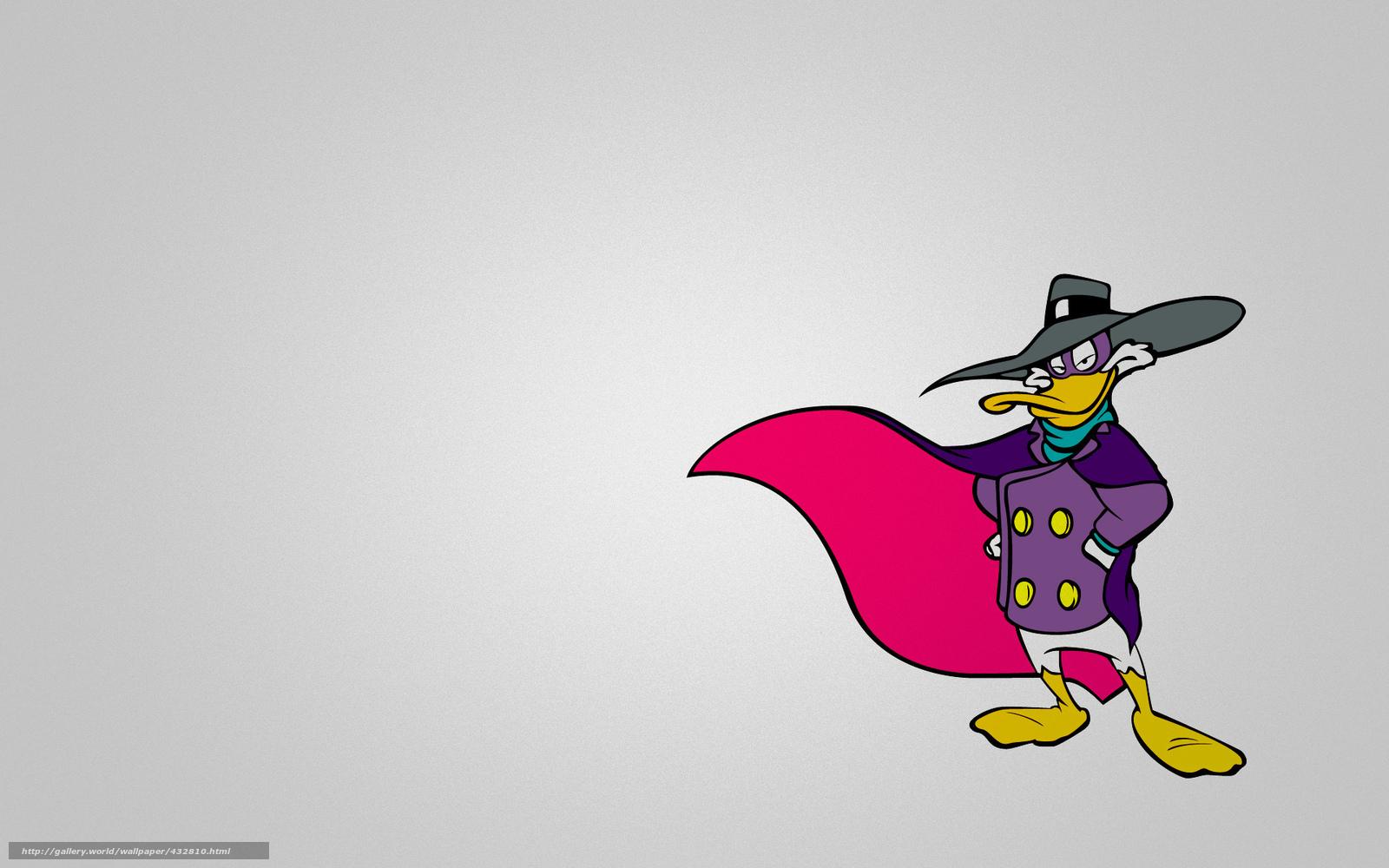 Скачать обои черный плащ,  селезень,  ЧП,  darkwing duck бесплатно для рабочего стола в разрешении 1920x1200 — картинка №432810