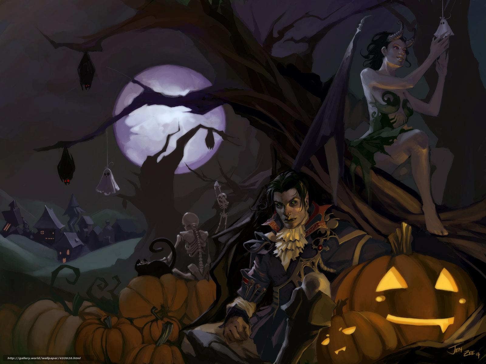 scaricare gli sfondi Arte,  Halloween,  vampiro,  demone Sfondi gratis per la risoluzione del desktop 2560x1920 — immagine №433920
