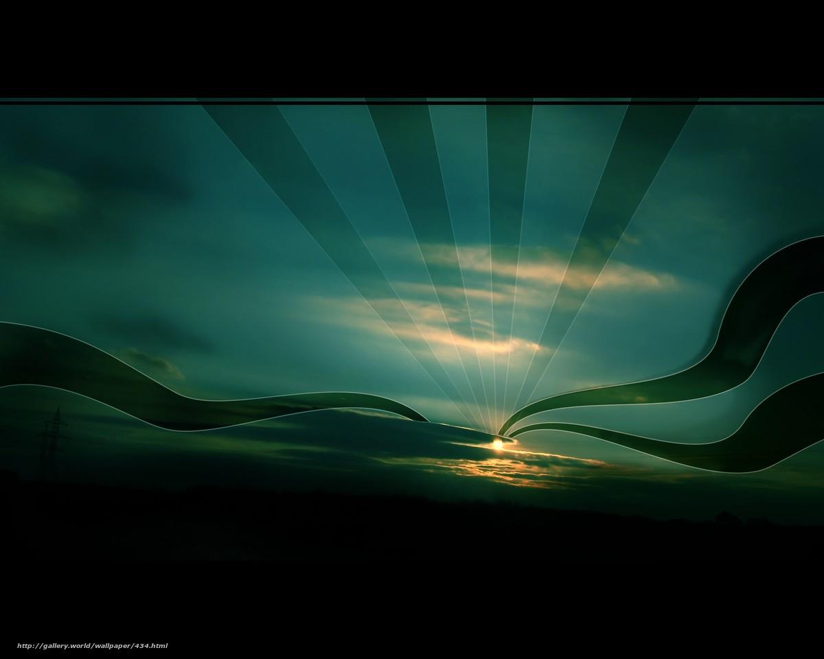 Скачать обои небо,  солнце,  обоя,  ночь бесплатно для рабочего стола в разрешении 2592x2073 — картинка №434