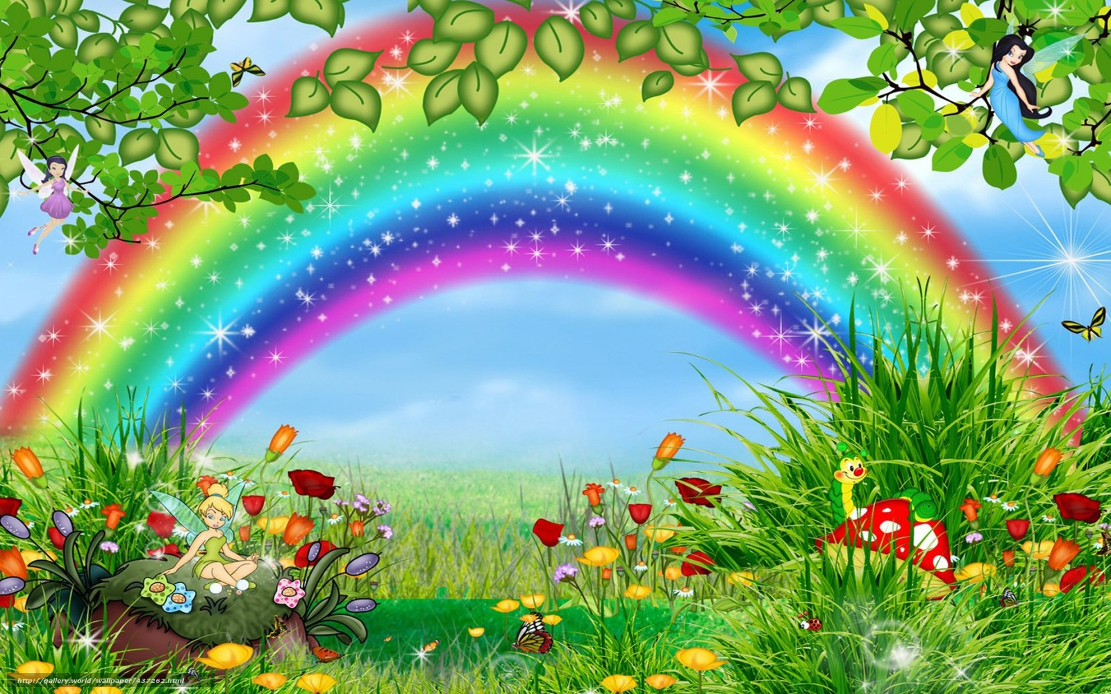 Tlcharger Fond d'ecran arc en ciel, fe, dessin anim. enfance Fonds d'ecran gratuits pour votre ...