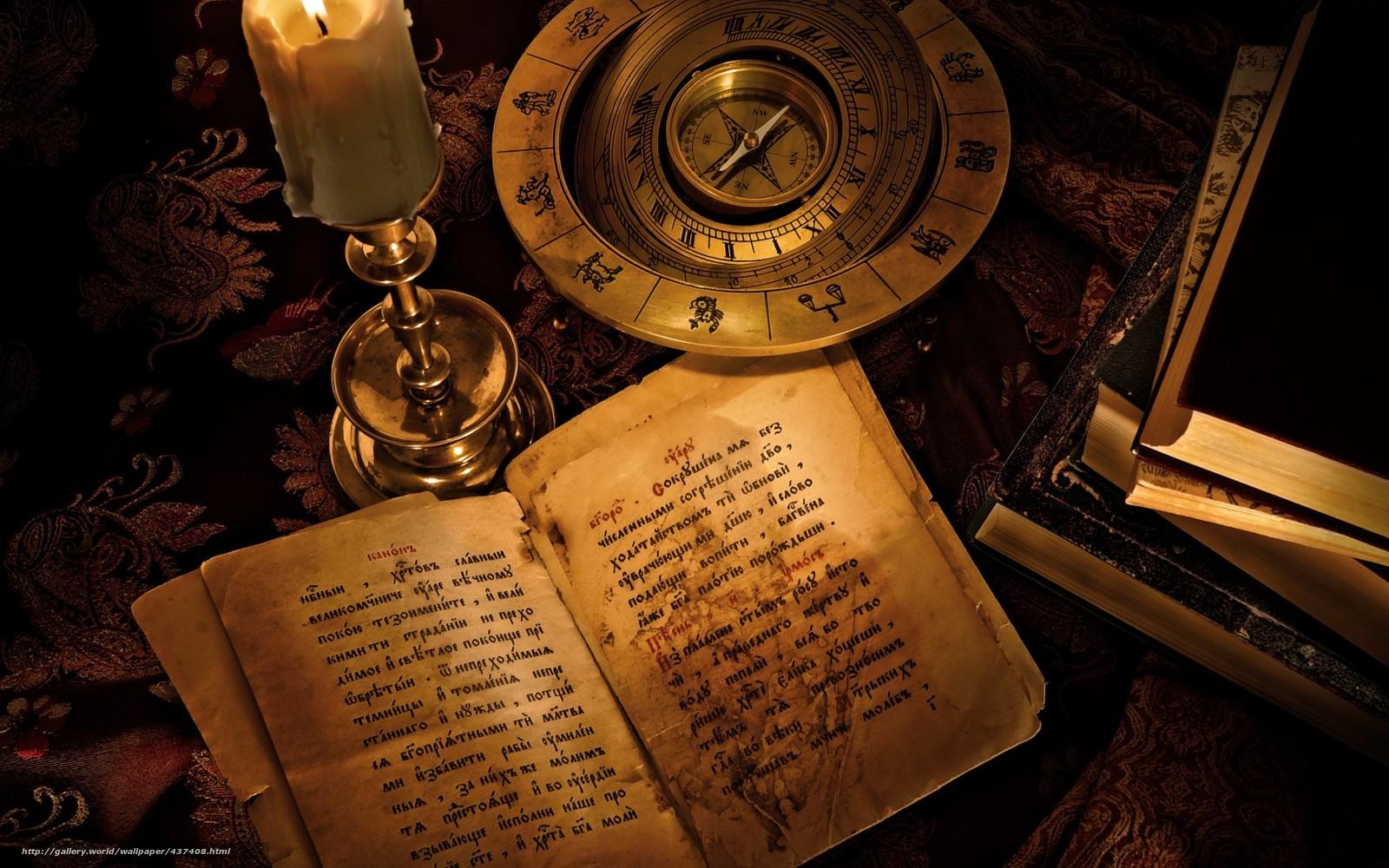 scaricare gli sfondi candela,  libri,  bussola,  segni dello zodiaco Sfondi gratis per la risoluzione del desktop 1680x1050 — immagine №437408