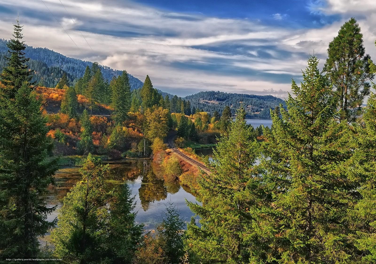 Descargar gratis hermoso paisaje,  Montaas,  bosque,  Los rboles Fondos de escritorio en la resolucin 2048x1441 — imagen №437489
