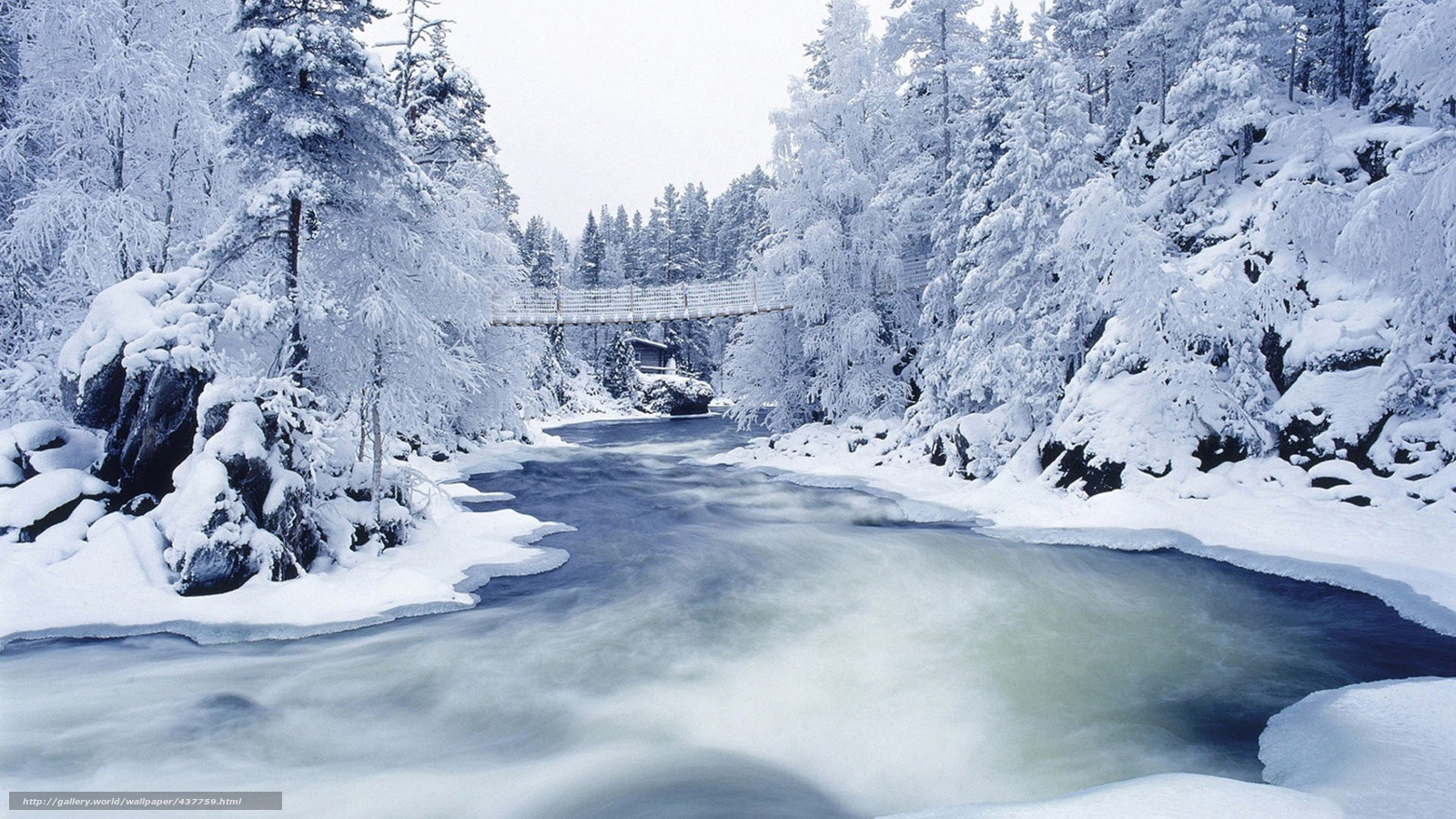 Scaricare gli sfondi inverno fiume ponte paesaggio for Immagini inverno sfondi