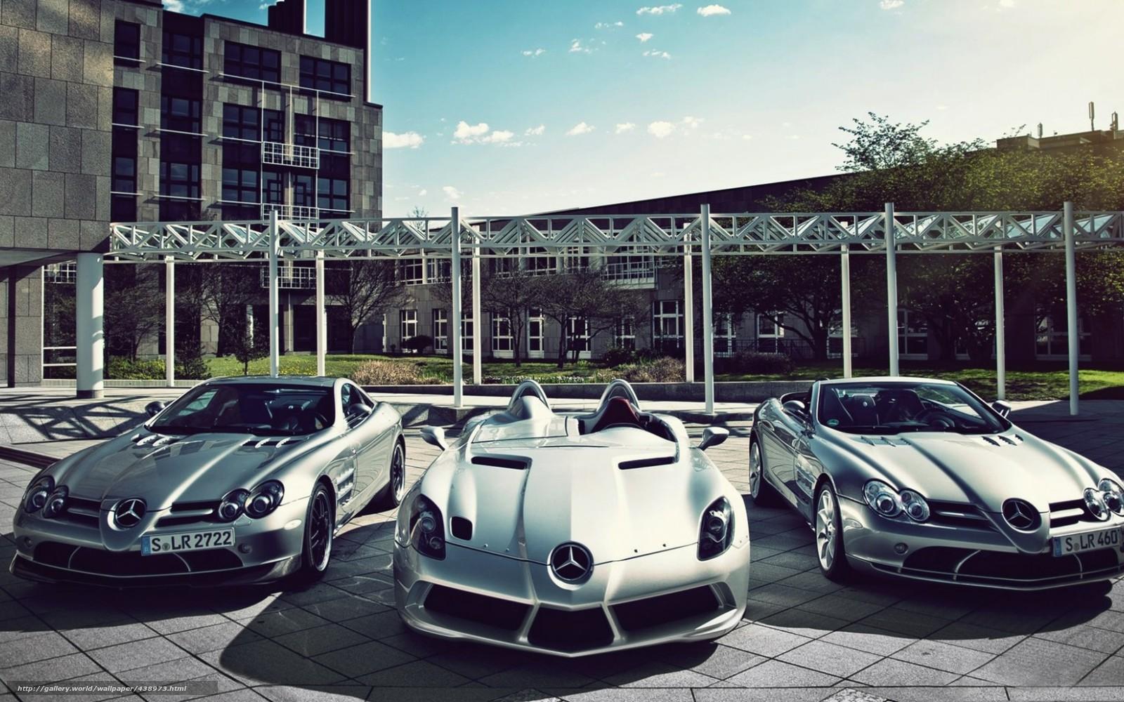 scaricare gli sfondi Mercedes,  tre,  auto sportive,  Mercedes Sfondi gratis per la risoluzione del desktop 1680x1050 — immagine №438973