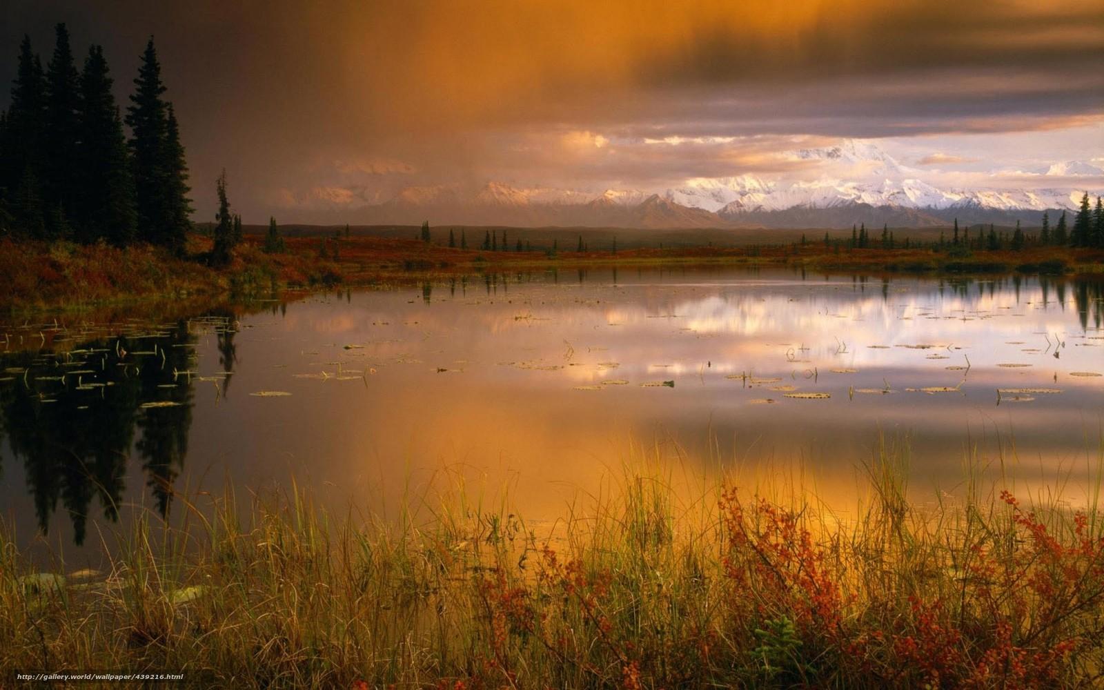 scaricare gli sfondi autunno,  lago,  orizzonte,  Montagne Sfondi gratis per la risoluzione del desktop 1680x1050 — immagine №439216