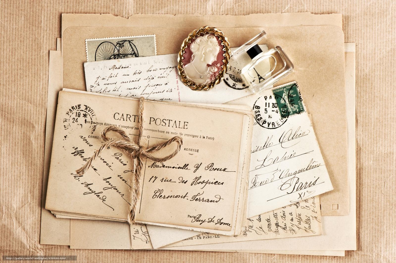 Download wallpaper Vintage,  letters,  envelope,  Merchandise free desktop wallpaper in the resolution 4000x2660 — picture №439886