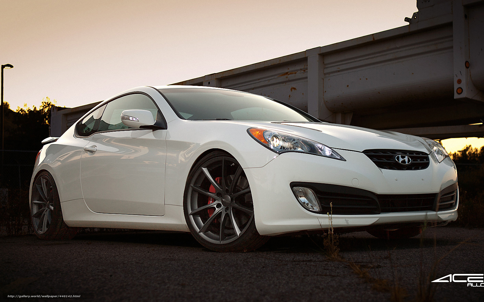 Download wallpaper hyundai genesis coupe white free desktop wallpaper in the resolution 1600x1000 picture 440142