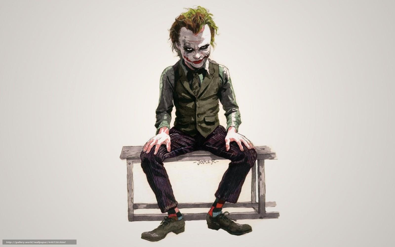 Download Hintergrund Joker,  Heath Ledger Freie desktop Tapeten in der Auflosung 1680x1050 — bild №440720