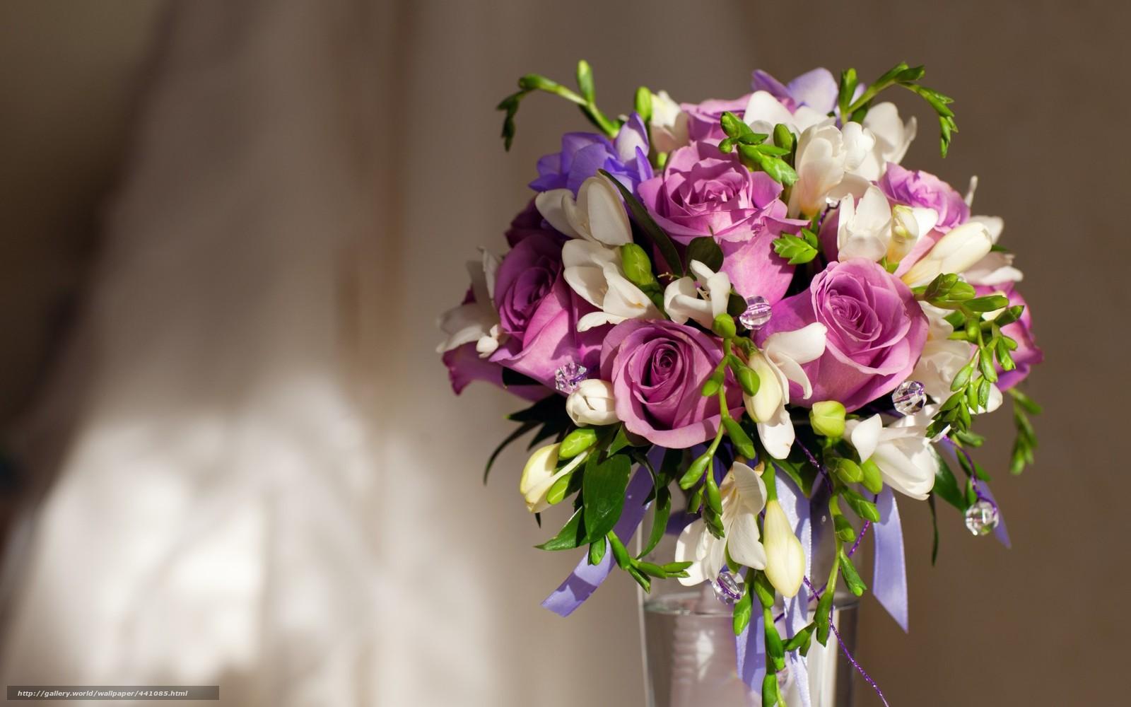 Tlcharger Fond D Ecran Fleurs Violettes Roses Bouquet