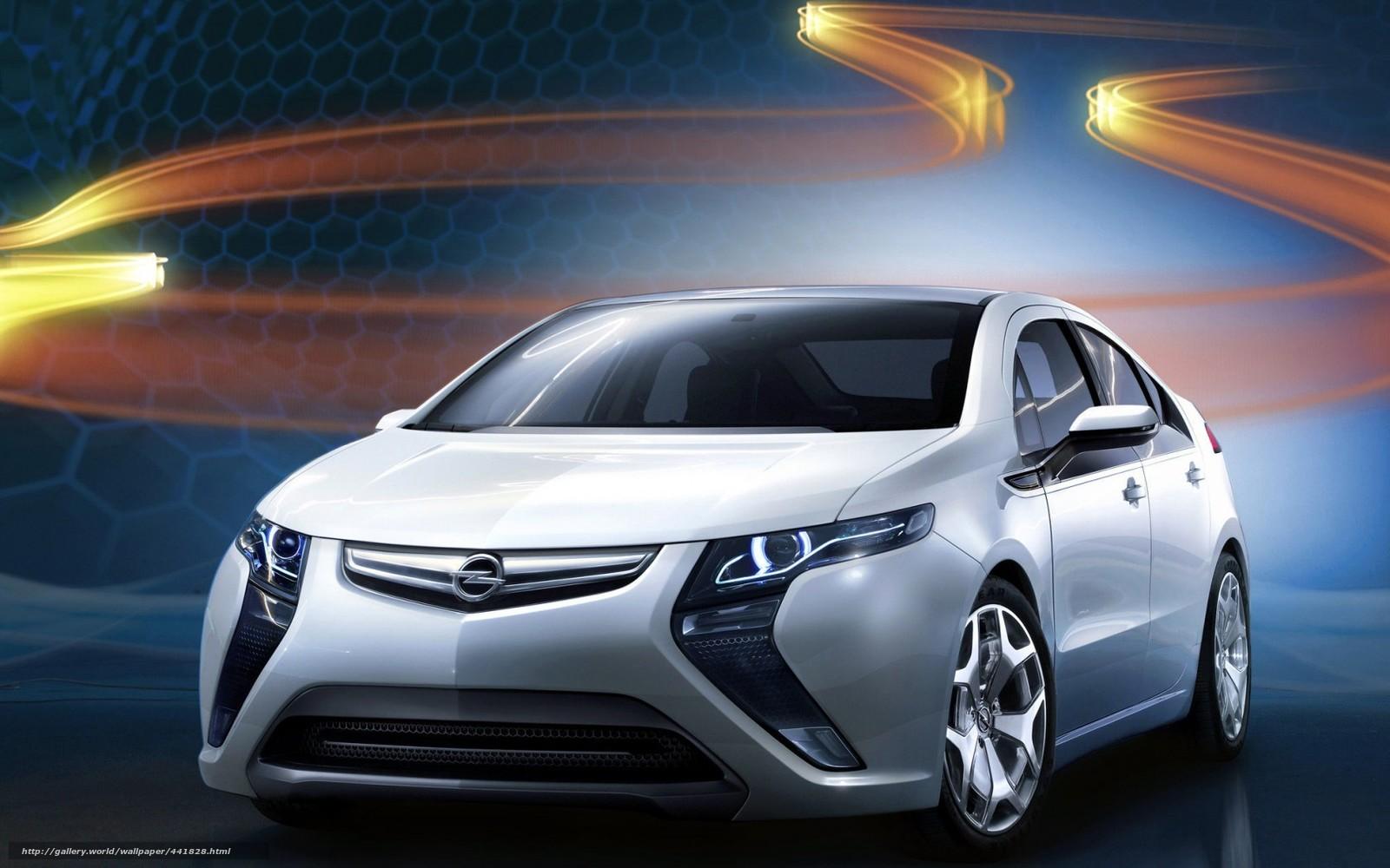 Скачать обои опель,  ампера,  Opel бесплатно для рабочего стола в разрешении 1680x1050 — картинка №441828