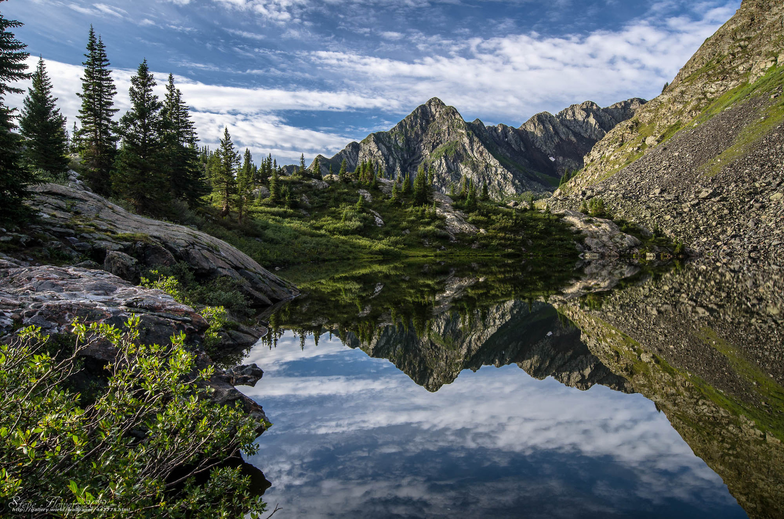 Download wallpaper moon lake,  lake,  Mountains,  reflection free desktop wallpaper in the resolution 2000x1325 — picture №442775