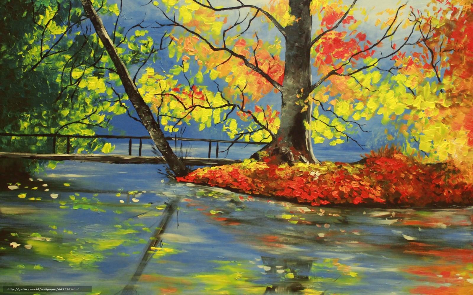 Download Hintergrund Kunst Natur Fluss Herbst Freie Desktop Tapeten In Der Auflosung 1680x1050 Bild 443176