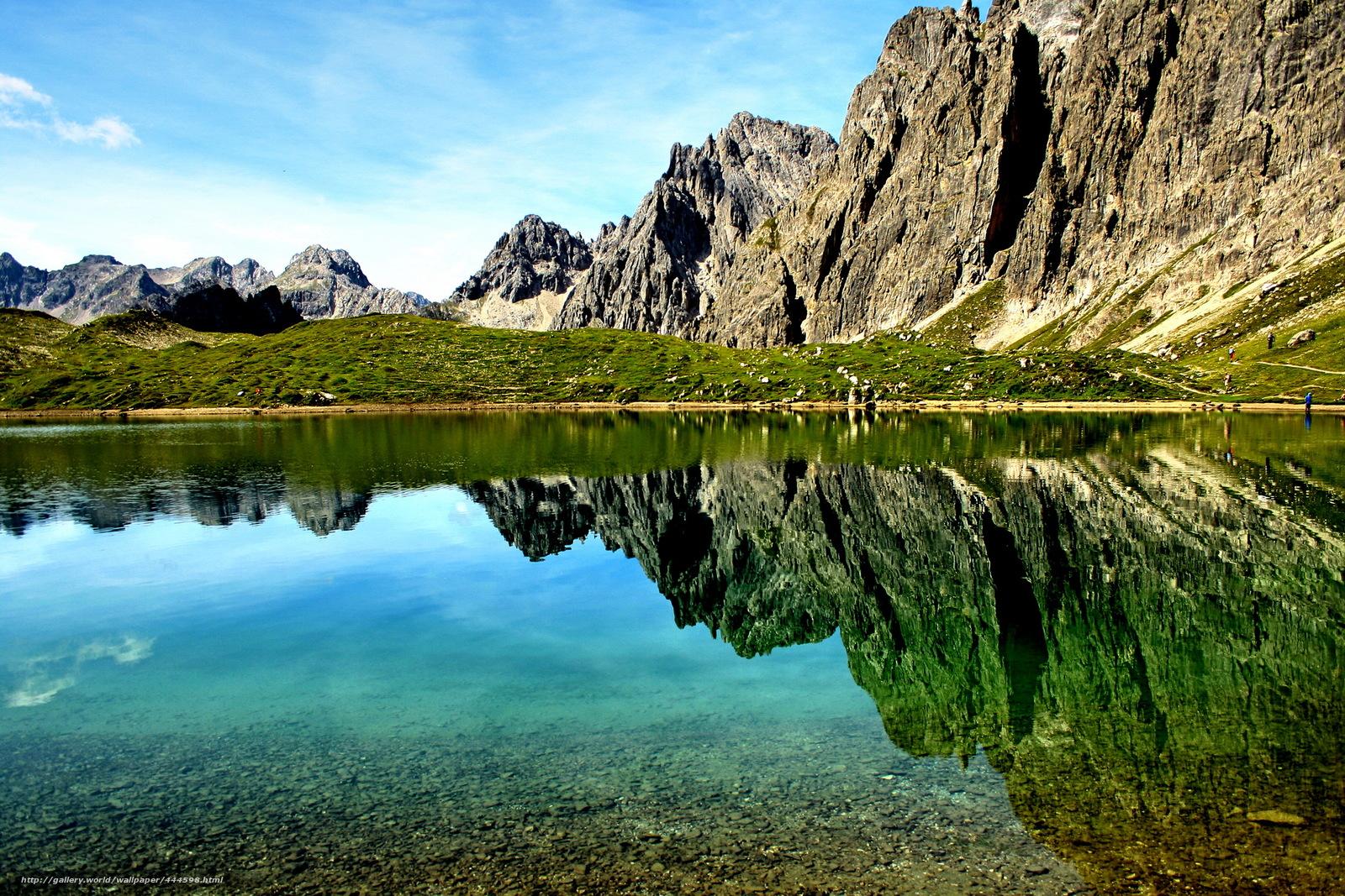 Скачать обои Австрия,  Тироль,  горы,  озеро бесплатно для рабочего стола в разрешении 2220x1480 — картинка №444598