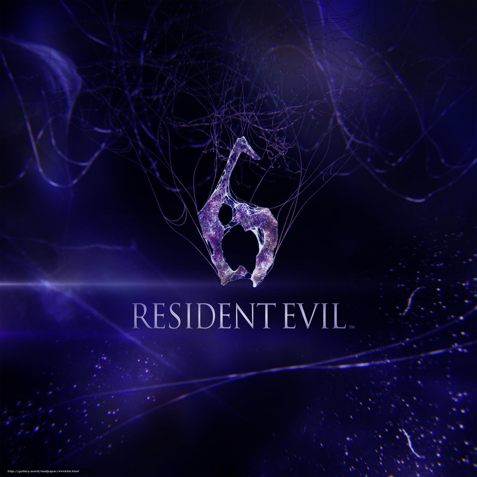 Download wallpaper resident evil 6,  biohazard,  Resident Evil 6,  logo free desktop wallpaper in the resolution 3508x3508 — picture №444998