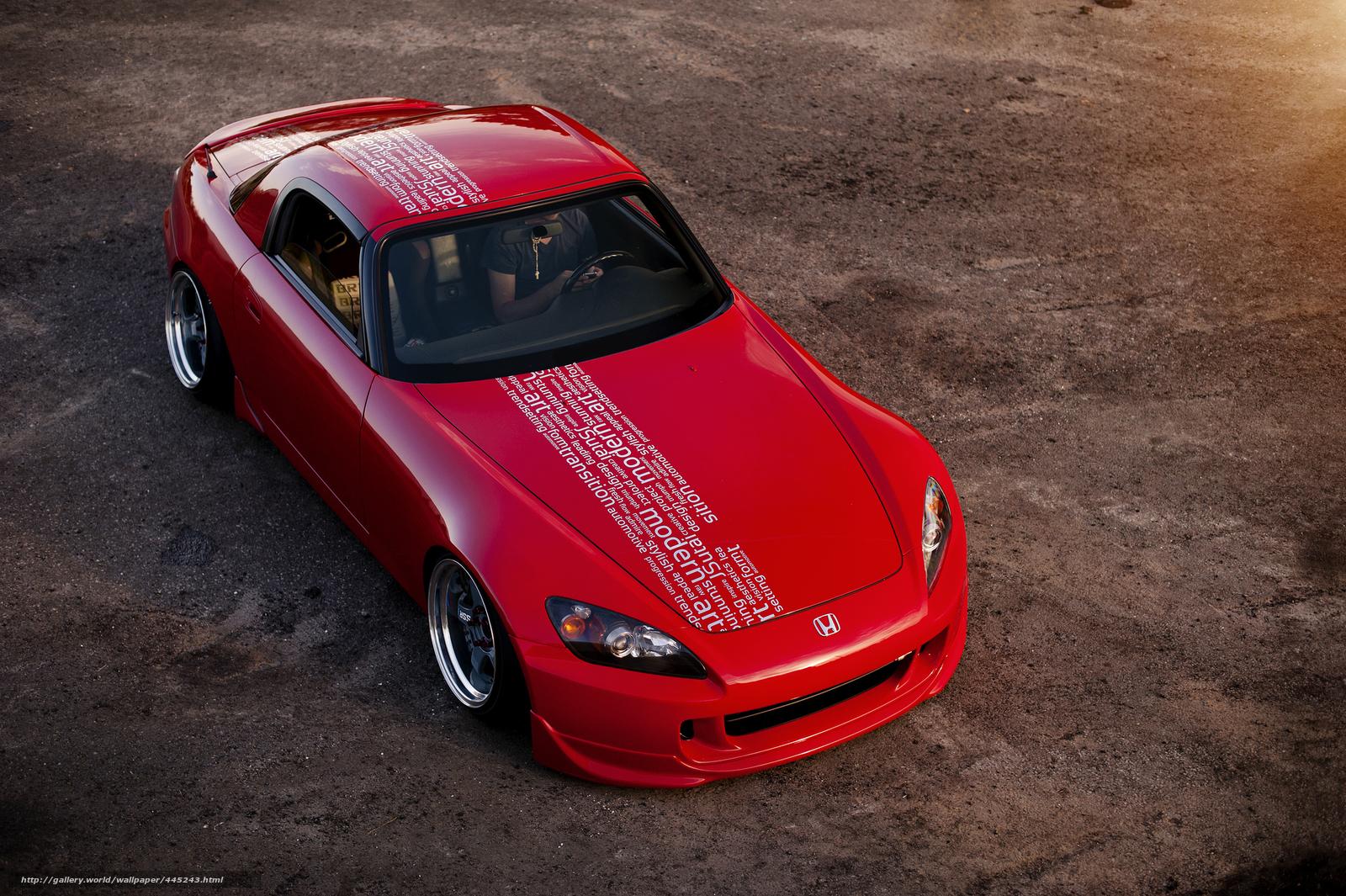 Скачать обои хонда,  красная,  Honda бесплатно для рабочего стола в разрешении 2048x1363 — картинка №445243