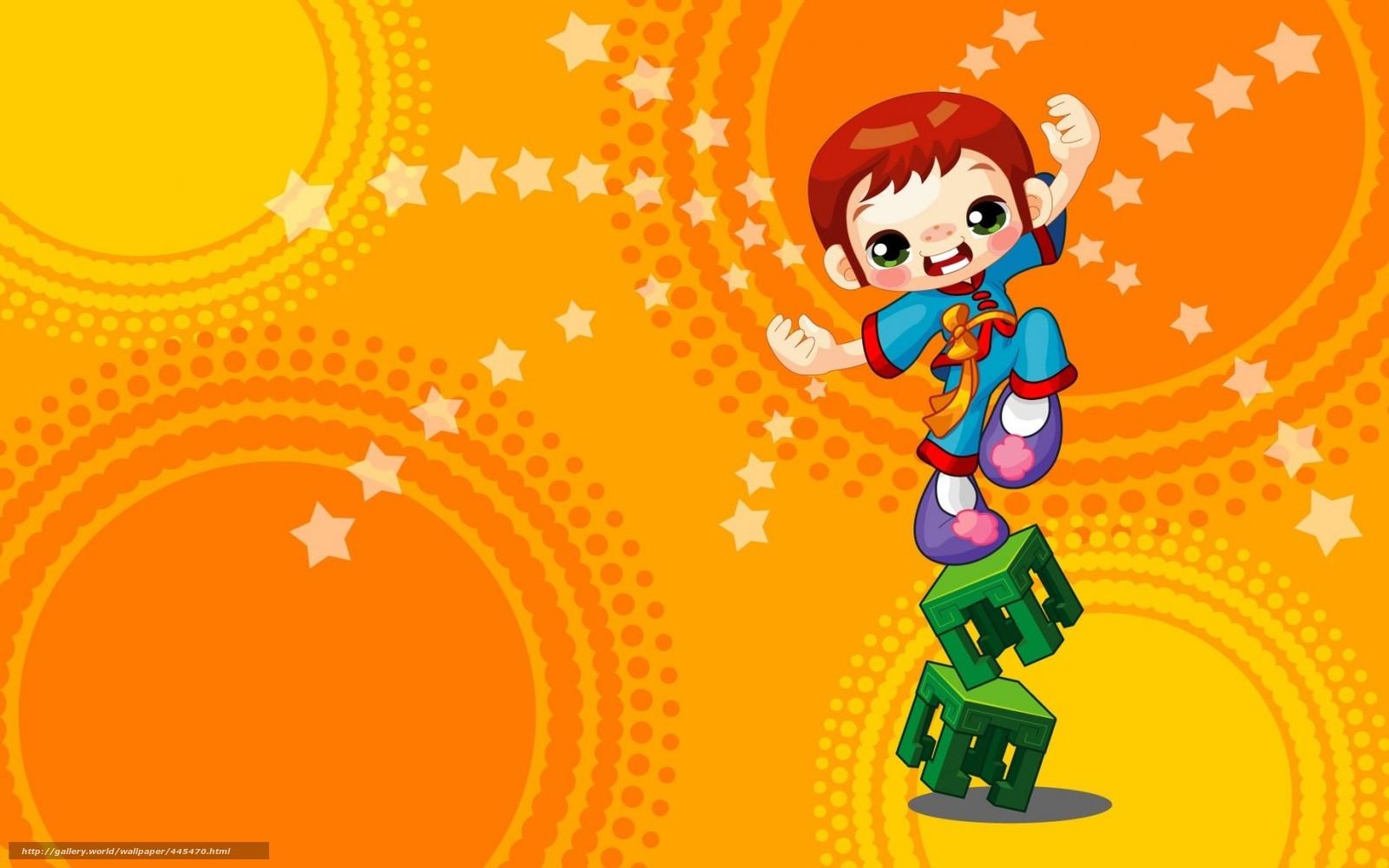 Скачать обои детская,  арт,  цирк,  мальчик бесплатно для рабочего стола в разрешении 1680x1050 — картинка №445470
