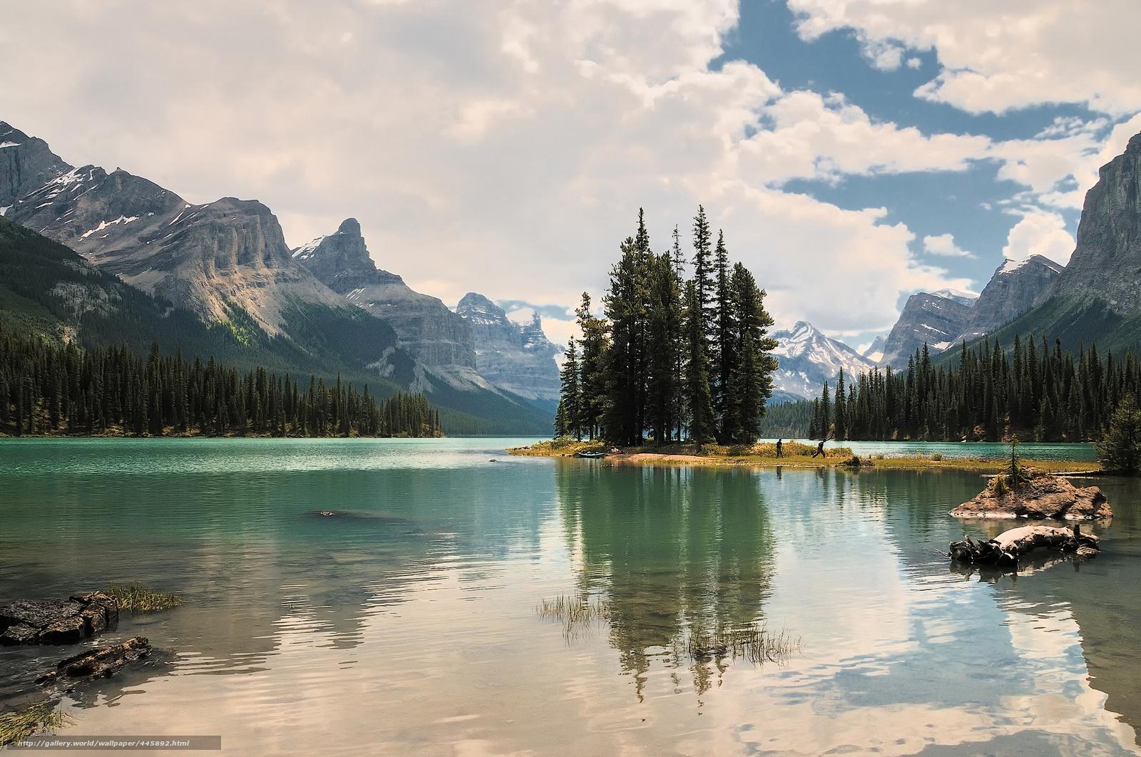 Скачать обои jasper national park,  canada,  maligne lake,  Национальный парк Джаспер бесплатно для рабочего стола в разрешении 2048x1359 — картинка №445892