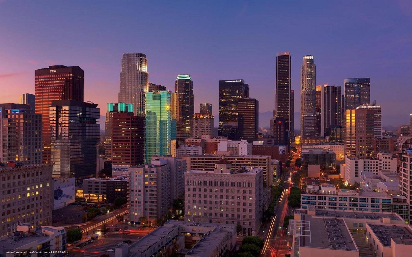 壁紙をダウンロード 米国 カリフォルニア ロサンゼルス市 シティ デスクトップの解像度のための無料壁紙 1680x1050 絵