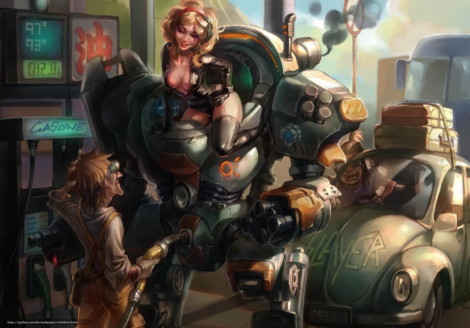 рисованные девушки роботы