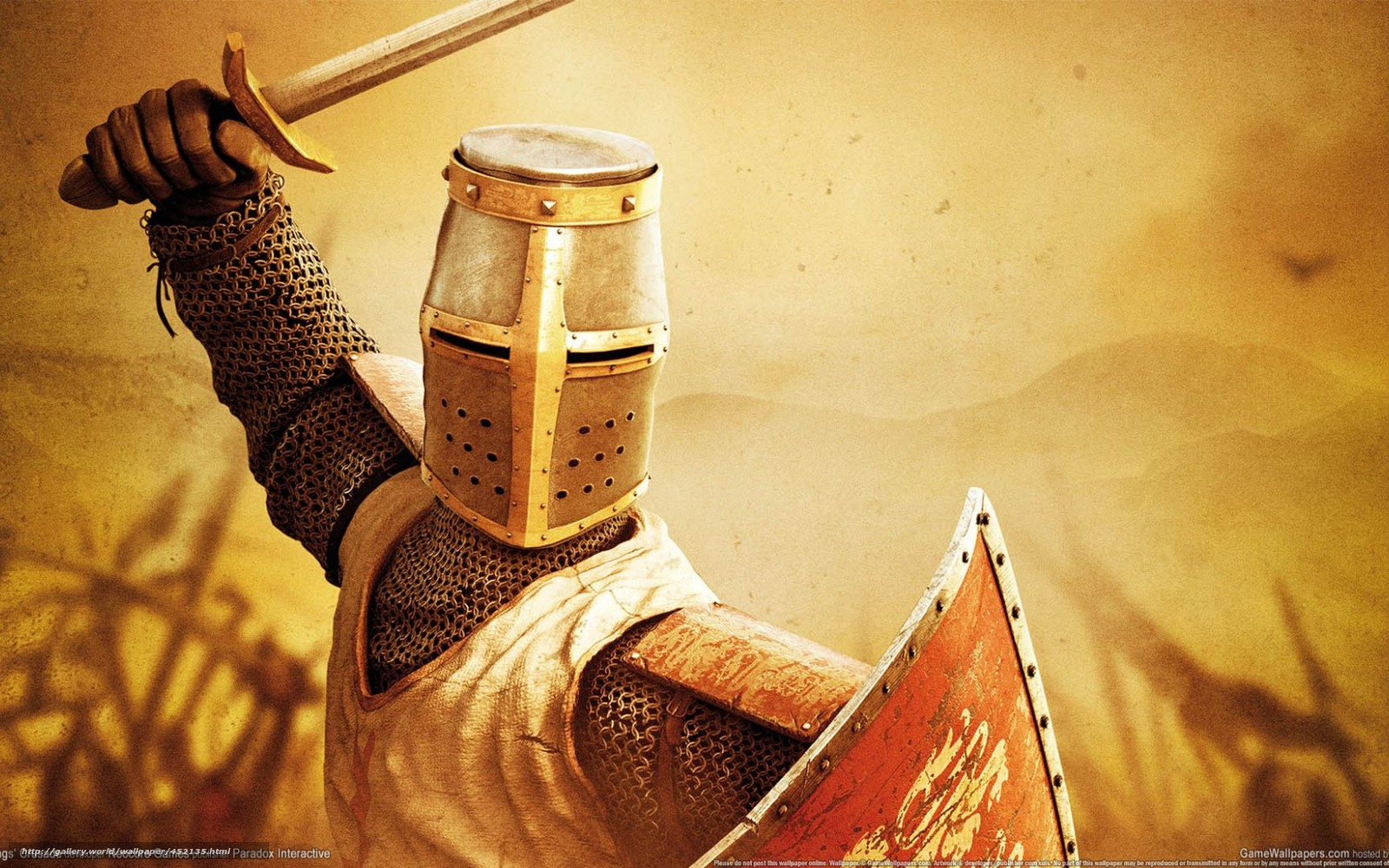 Download Wallpaper Knight Shield Sword Crusader Free Desktop In The Resolution 1680x1050 Picture No452135