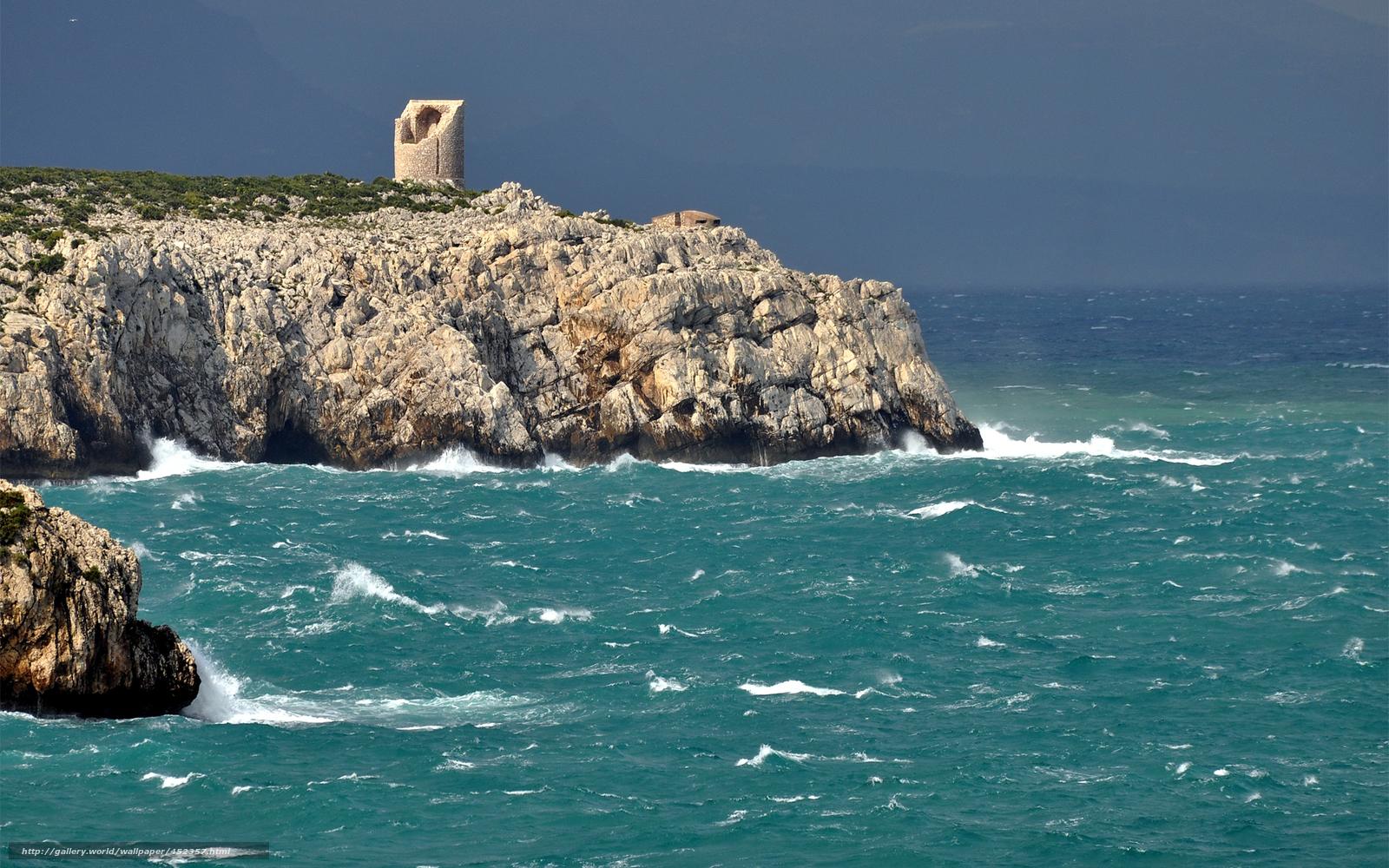 Скачать обои море,  скалы,  берег,  камни бесплатно для рабочего стола в разрешении 1920x1200 — картинка №452357
