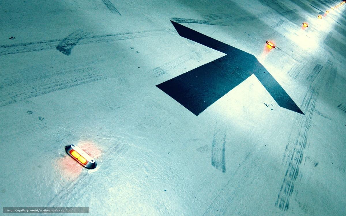Скачать обои стрелки,  огни,  пол,  следы бесплатно для рабочего стола в разрешении 1920x1200 — картинка №4532