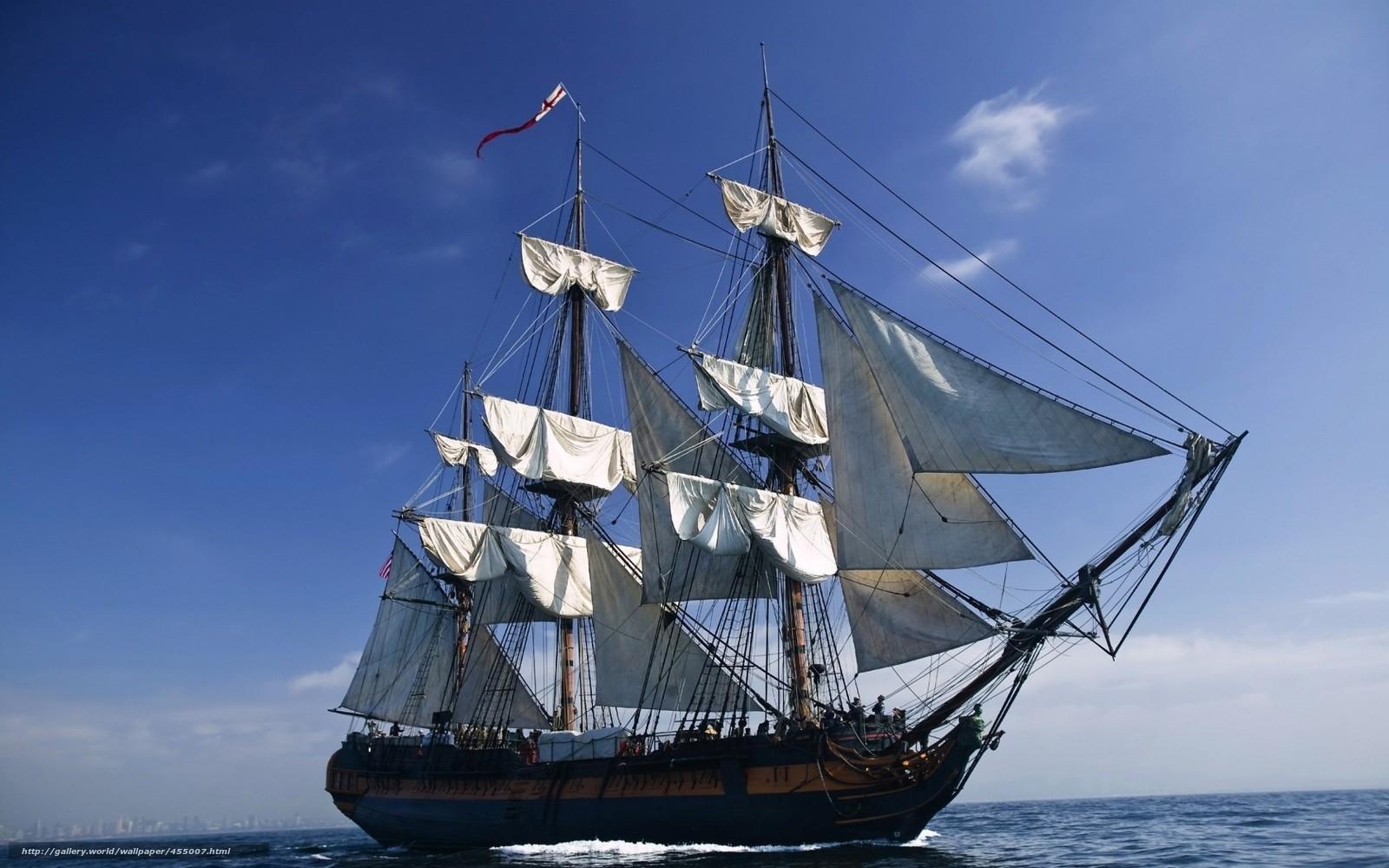 Télécharger x voiliers bateaux navires Océan mer nuages