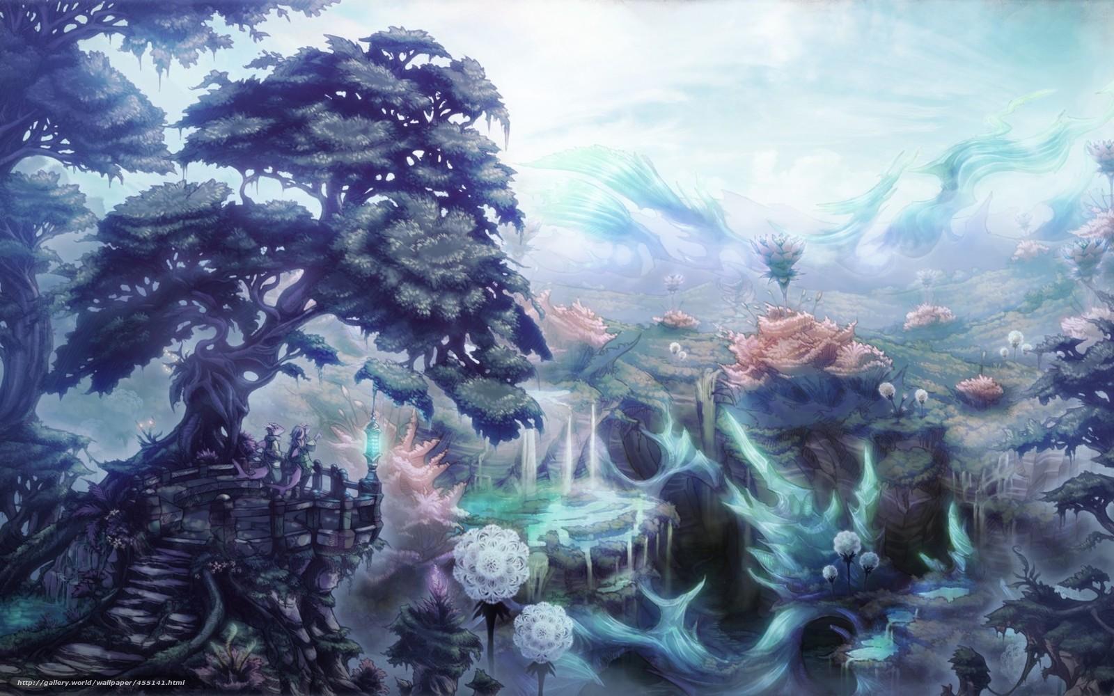 Tlcharger fond d 39 ecran art monde fantastique arbres for Fond ecran monde