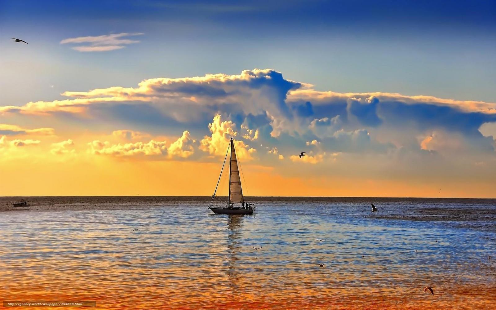 Segelschiffe auf dem meer sonnenuntergang  Download Hintergrund Meer, Sonnenuntergang, Segelschiff Freie ...