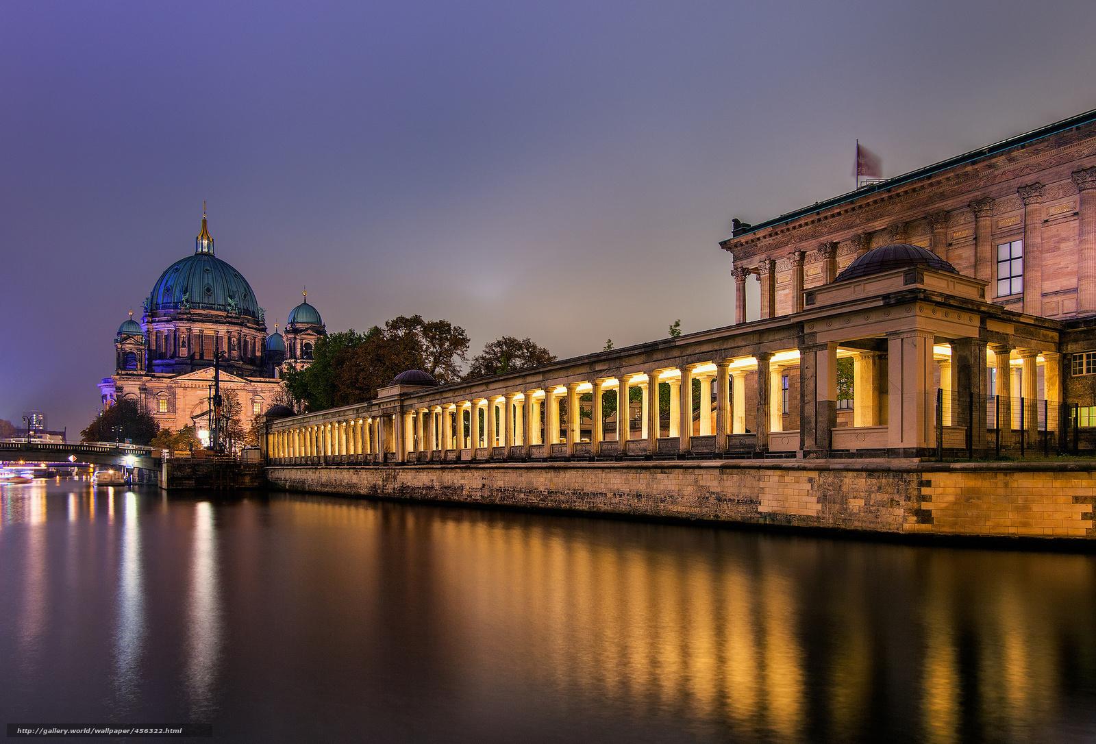 Download wallpaper Berlin,  city,  night,  Germany free desktop wallpaper in the resolution 2048x1390 — picture №456322