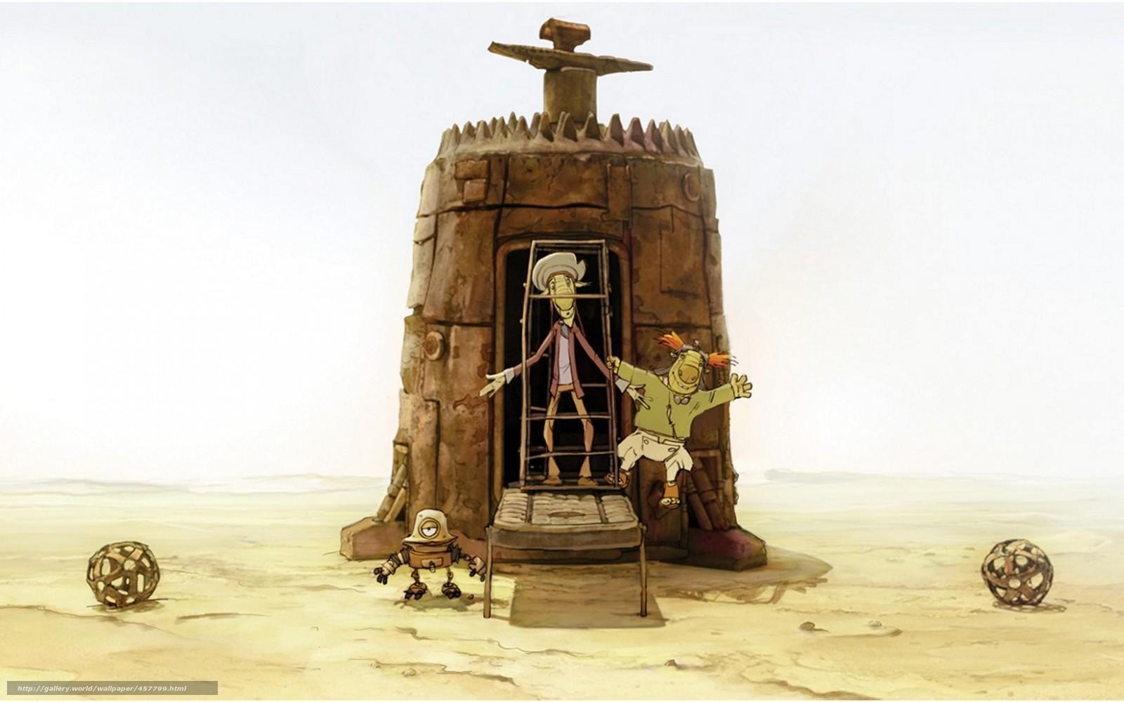 scaricare gli sfondi KinDzaDza-DZA!,  Kin Dza Dza,  Plucker,  cartoni animati Sfondi gratis per la risoluzione del desktop 1680x1050 — immagine №457799