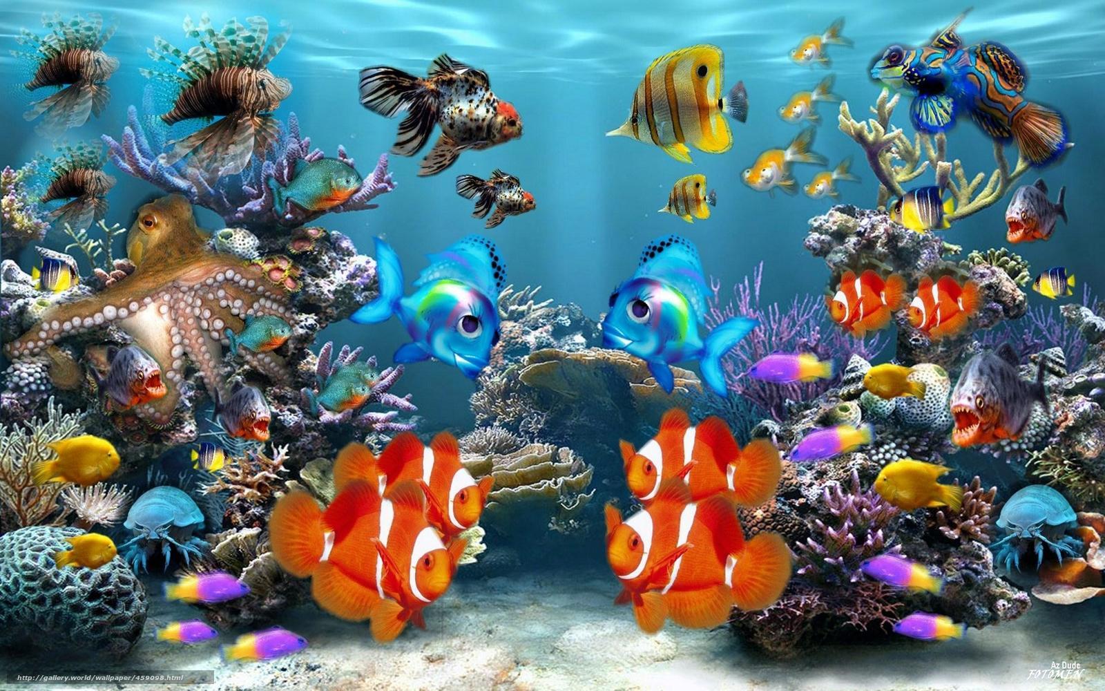fond d'ecran 3d poisson