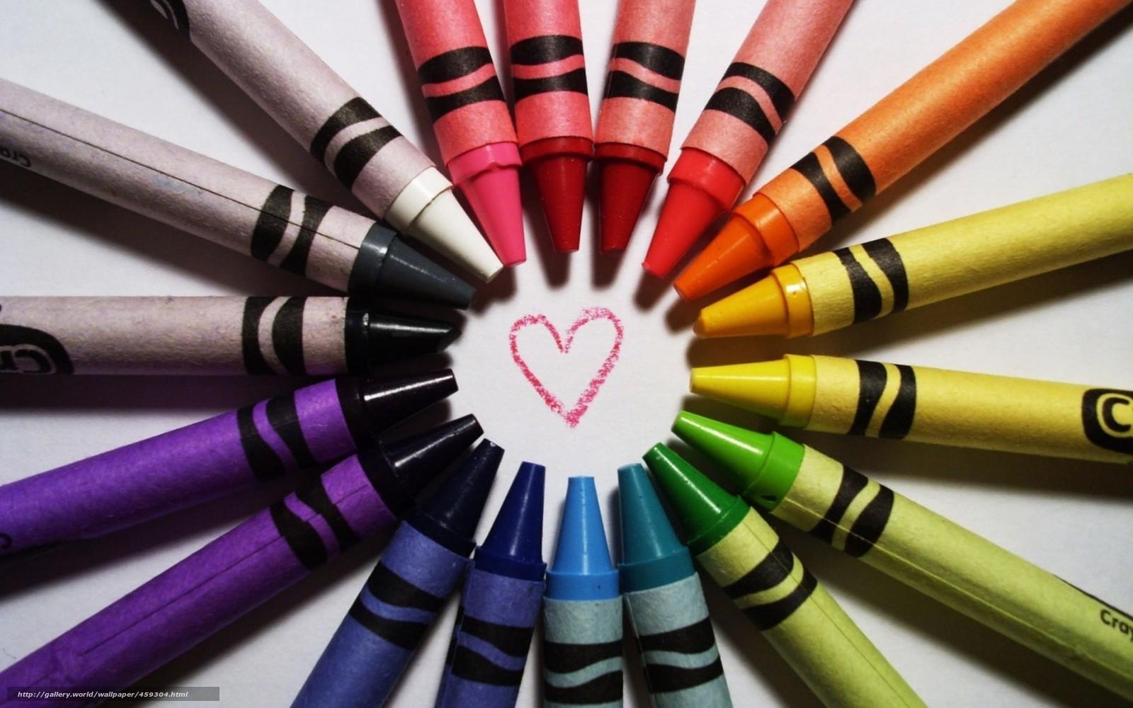 Tlcharger Fond d'ecran Crayons, Multicolore, positif, dessin Fonds d'ecran gratuits pour votre ...