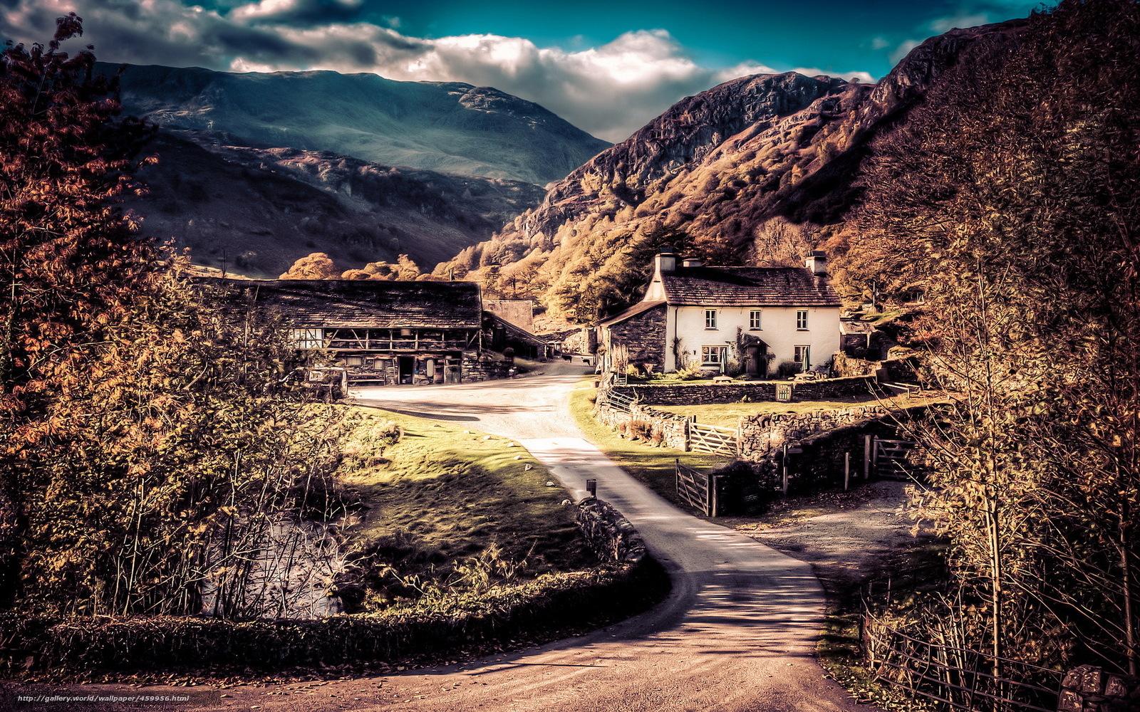 Scaricare gli sfondi montagne casa cantiere paesaggio for Casa del cantiere