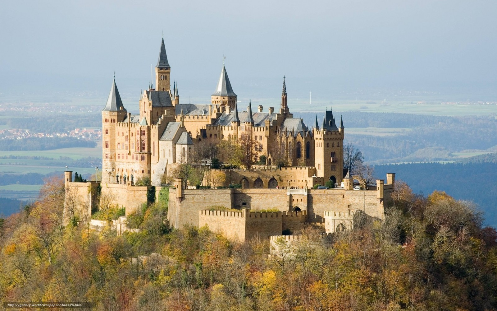Download wallpaper nature,  castle,  Hohenzollern,  structure free desktop wallpaper in the resolution 1680x1050 — picture №460976