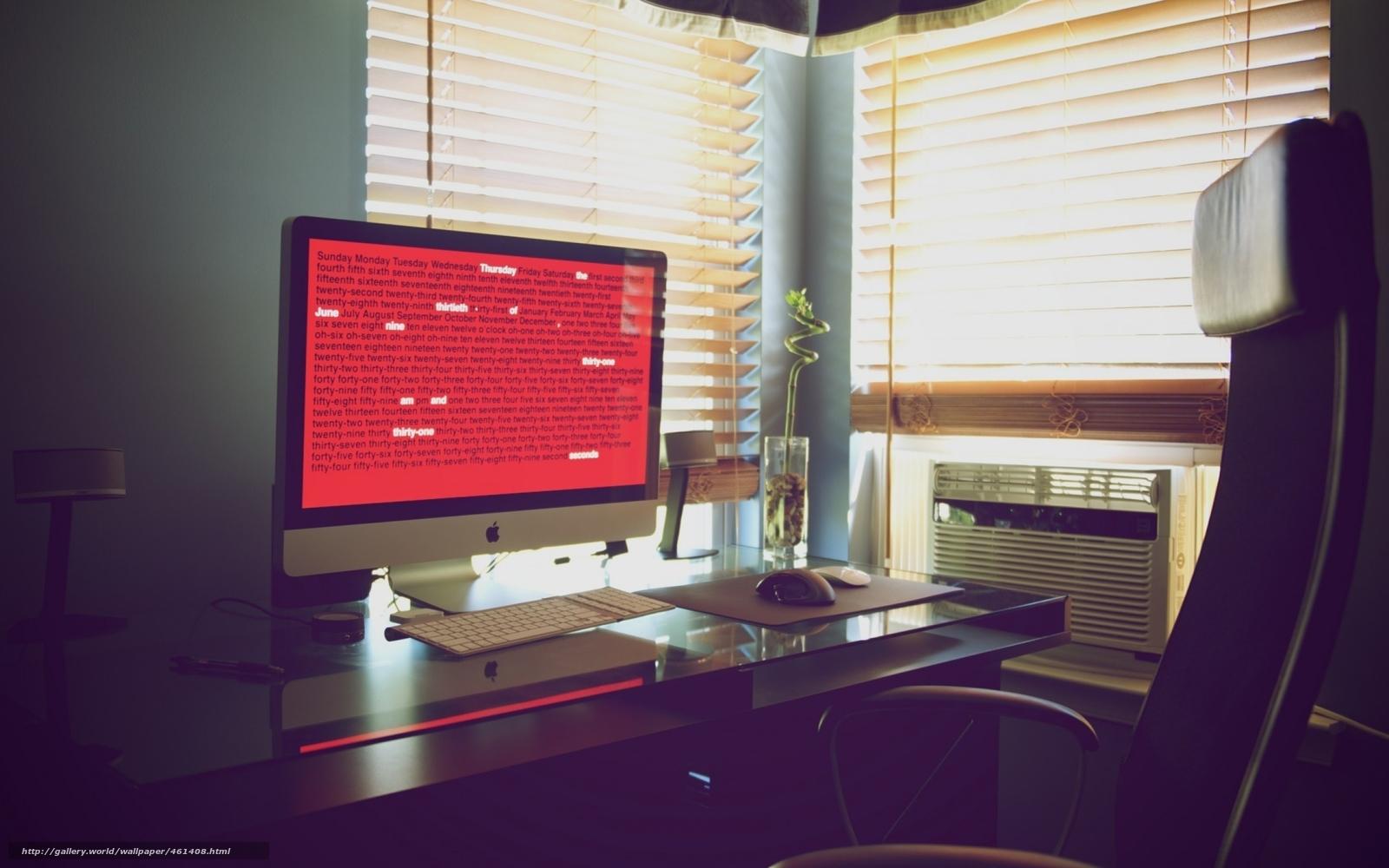 Descargar gratis lugar de trabajo,  mesa,  silla,  teclado Fondos de escritorio en la resolucin 2560x1600 — imagen №461408