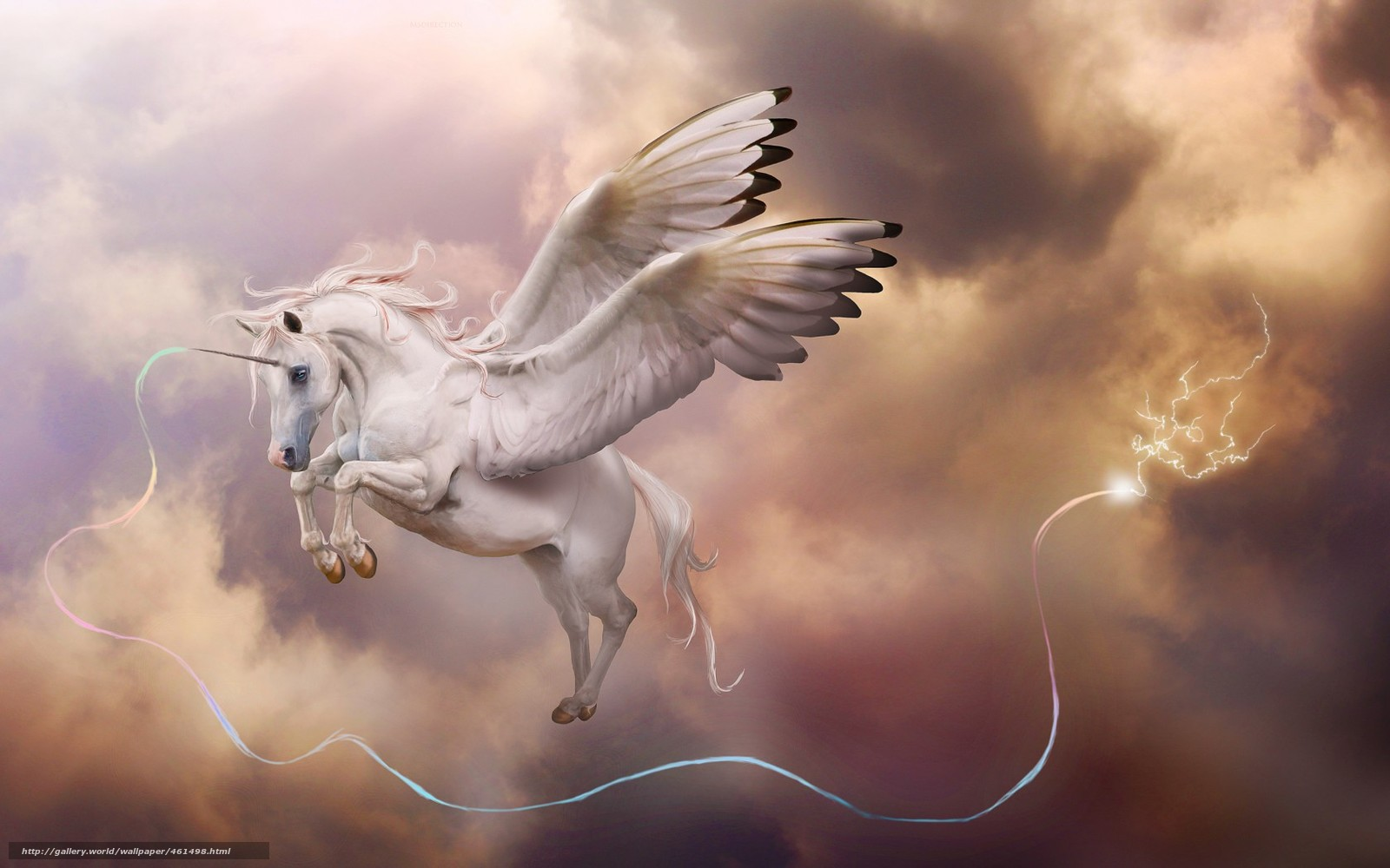 Download wallpaper Art,  unicorn,  horn,  Pegasus free desktop wallpaper in the resolution 1680x1050 — picture №461498