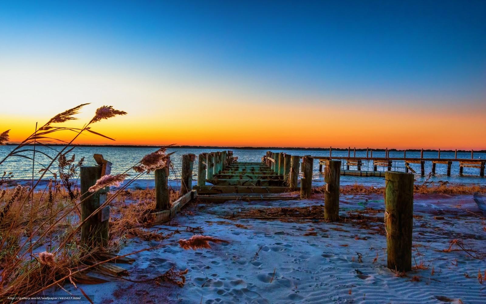 Tlcharger fond d 39 ecran coucher du soleil mer pont - Fond ecran coucher de soleil sur la mer ...