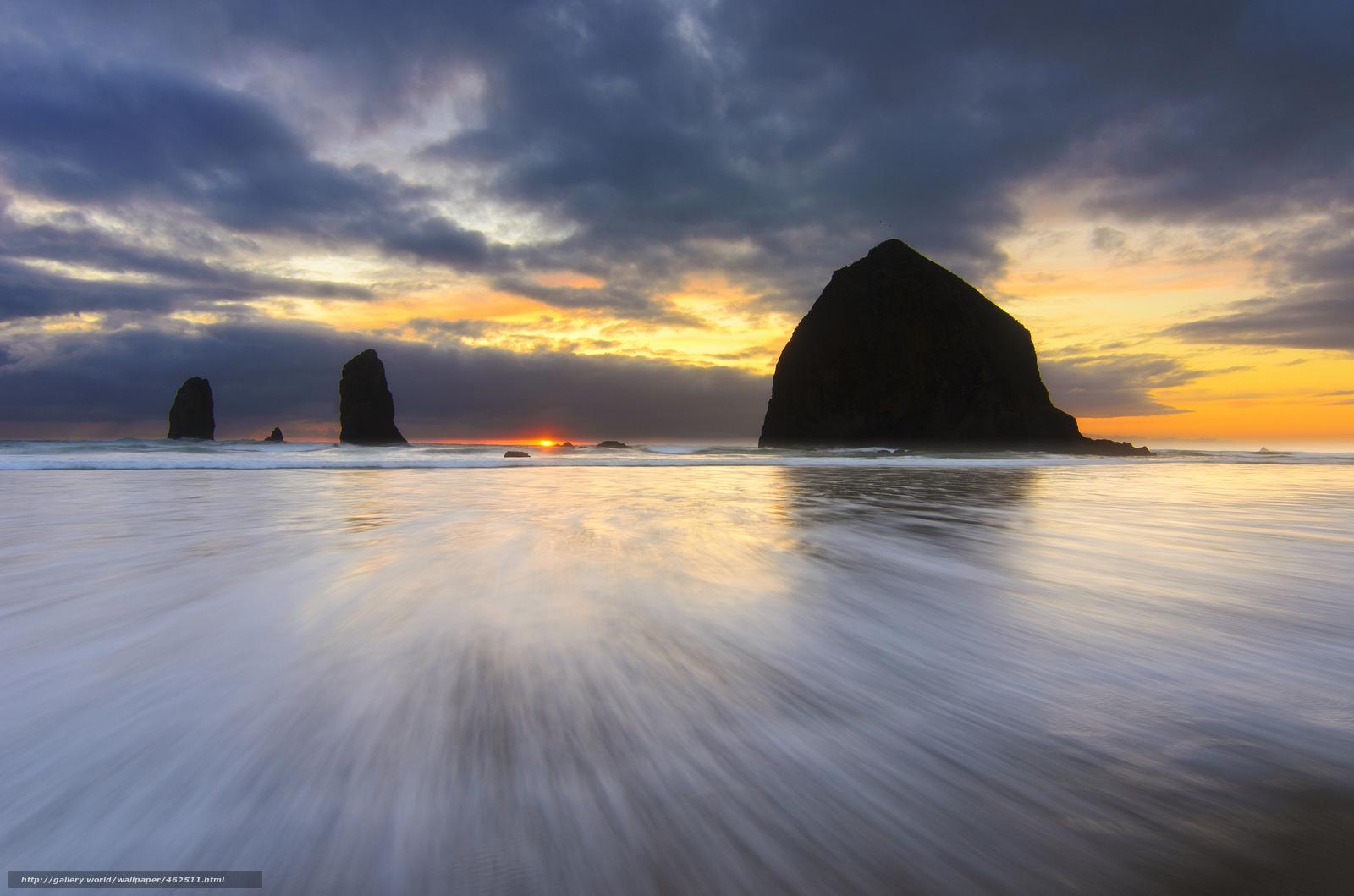 Скачать обои США,  Орегон,  океан,  пляж бесплатно для рабочего стола в разрешении 2048x1356 — картинка №462511